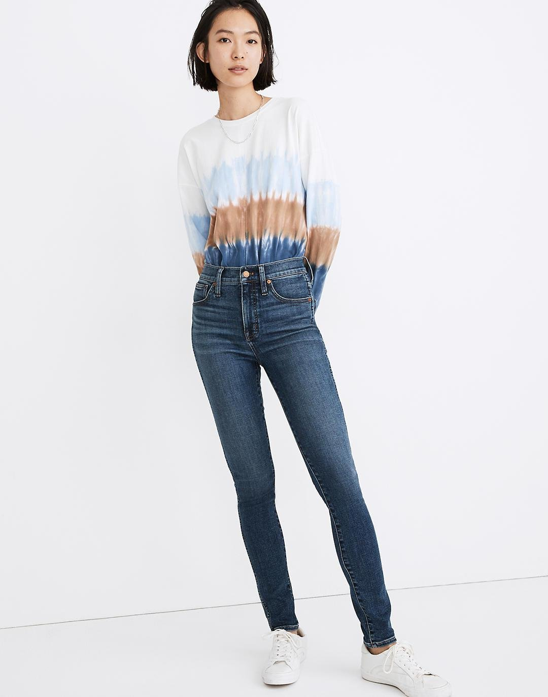 """10"""" High-Rise Skinny Jeans in Cordell Wash: Heatrich Denim Edition"""
