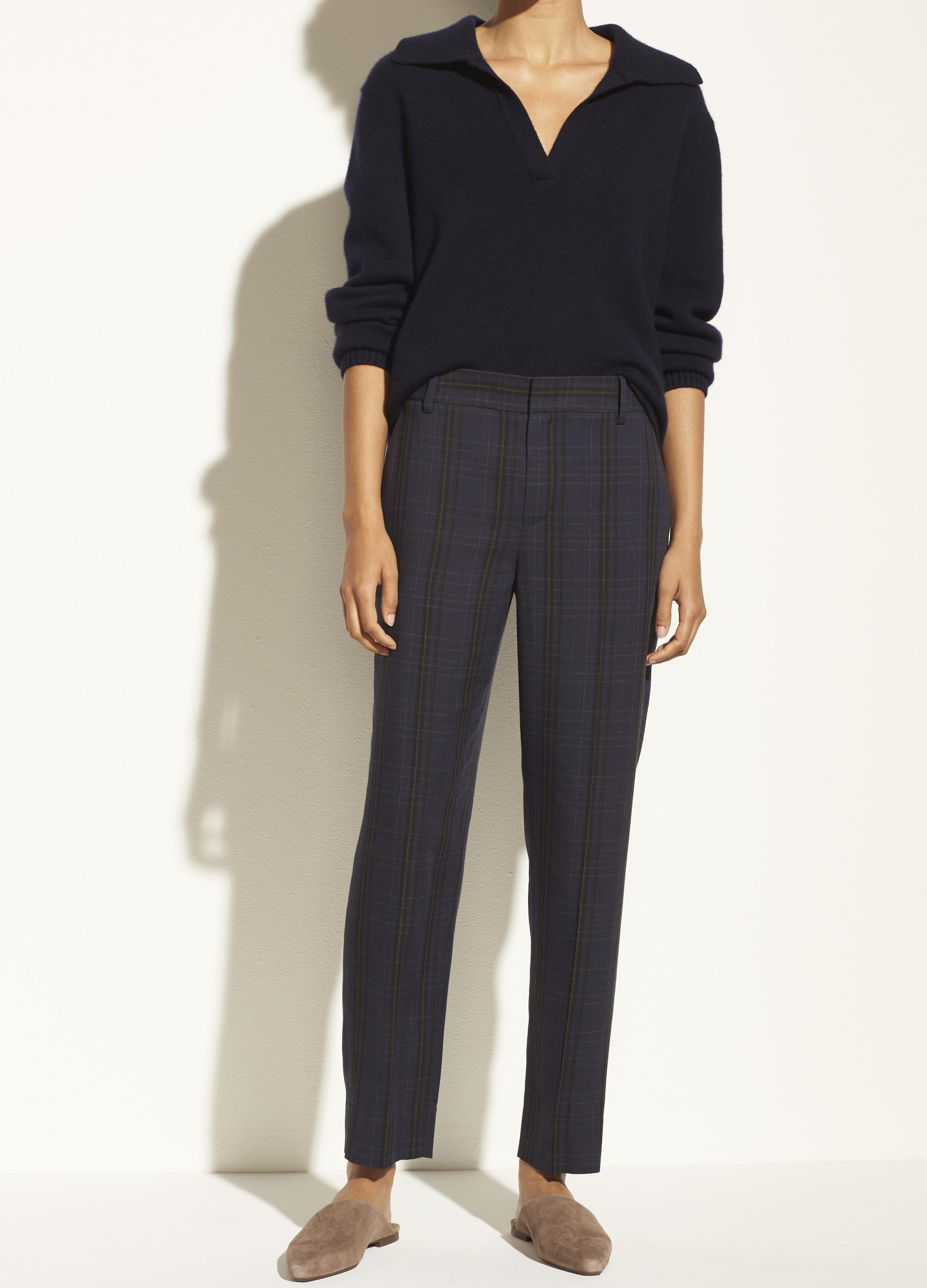 Plaid Tapered Trouser 1