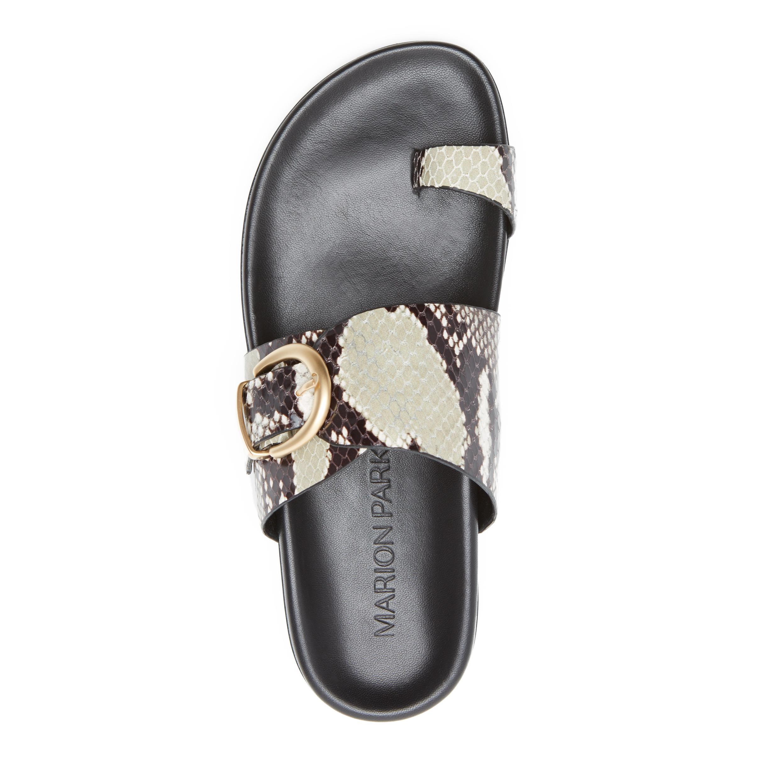 Cyrus | Leather Slide Sandal with Contoured Footbed 2