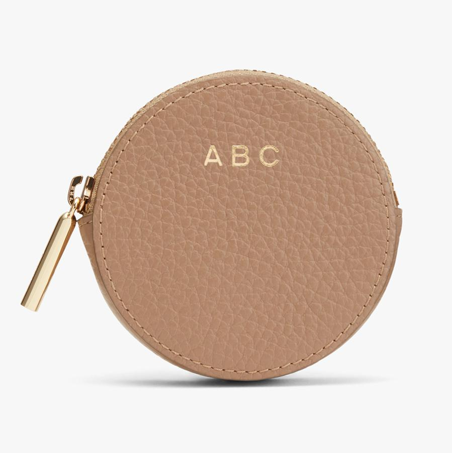 Women's Leather Coin Pouch in Cappuccino | Pebbled Leather by Cuyana 2
