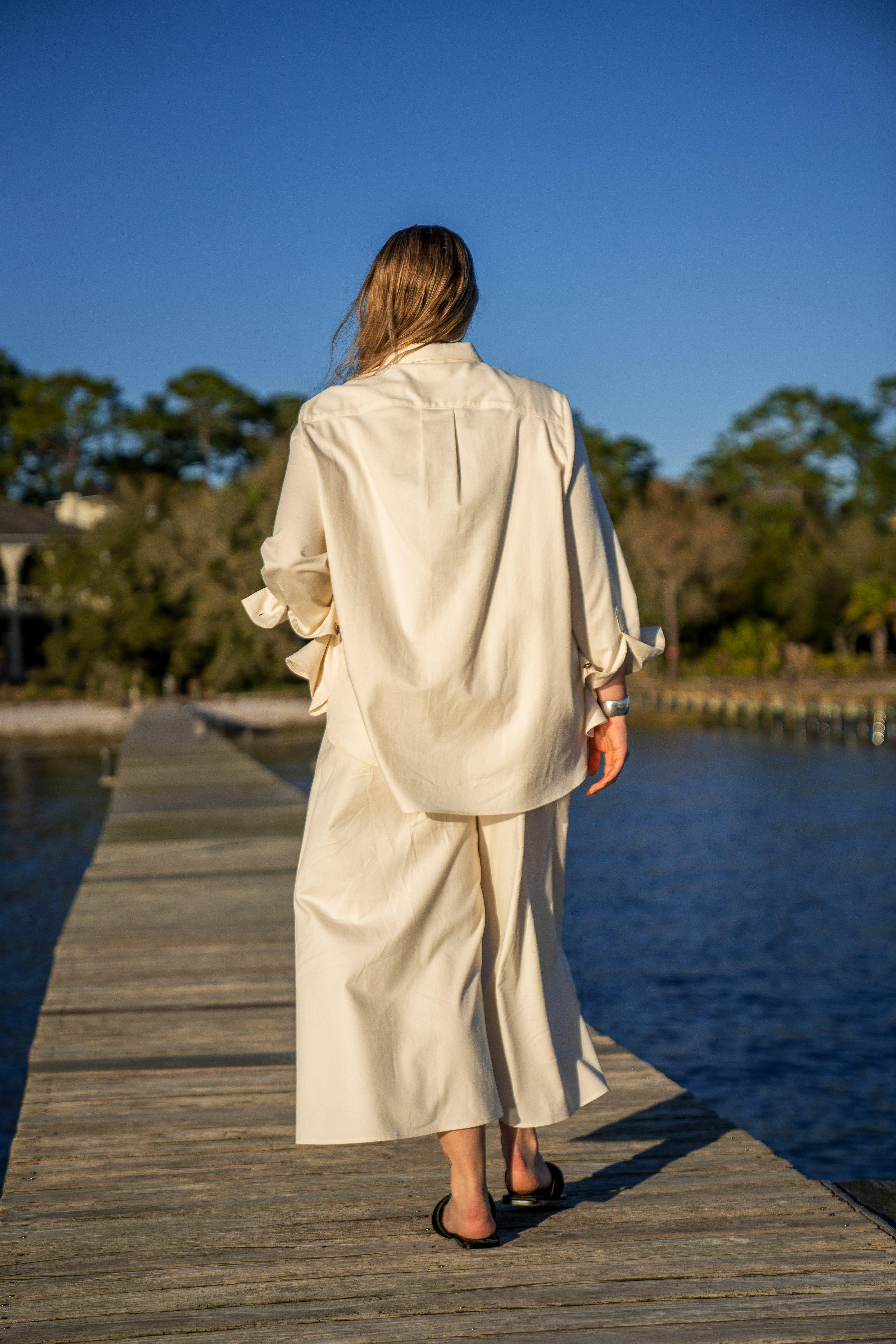 The Twill Wide Leg Pant 1