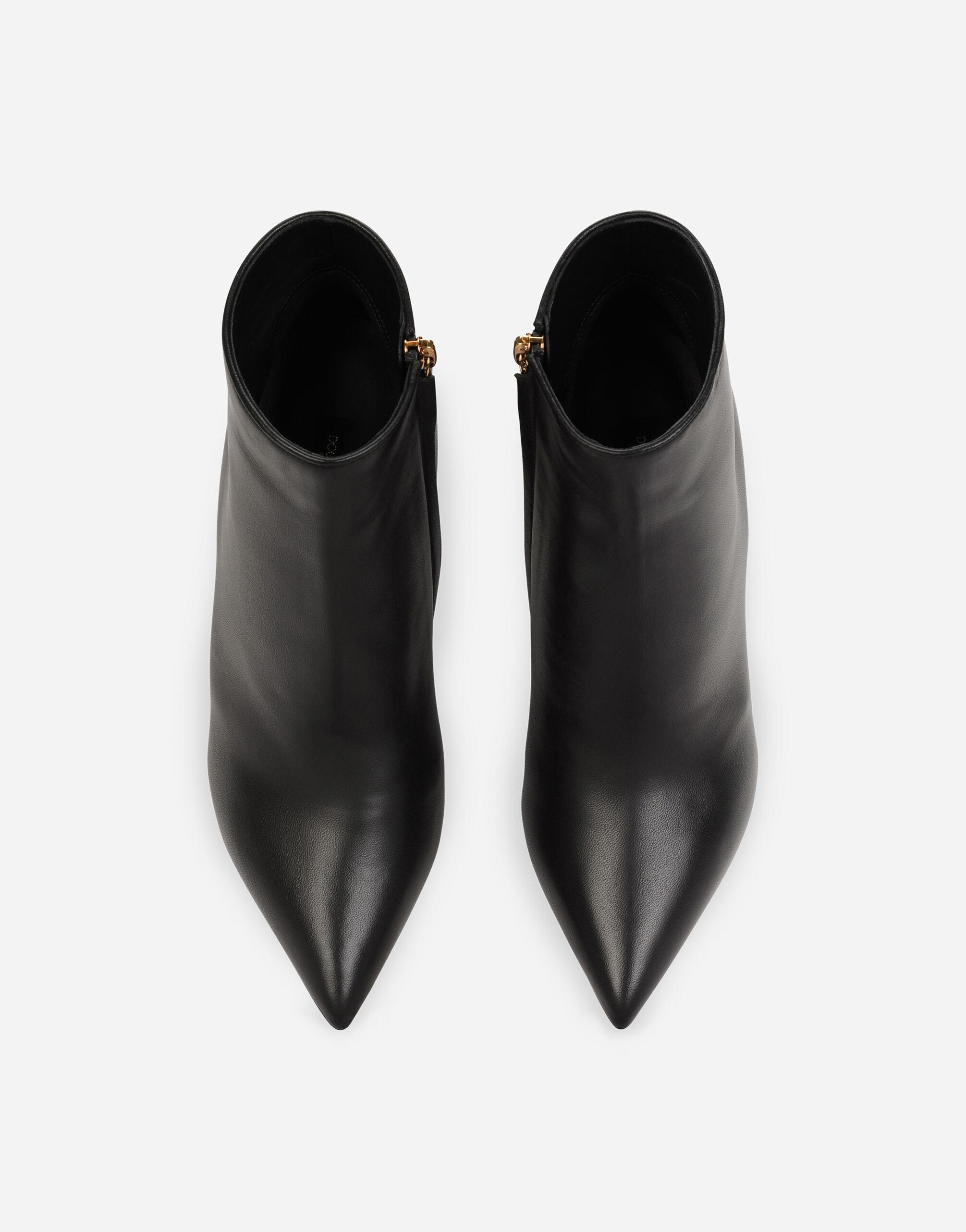Nappa leather ankle boots with DG heel 3