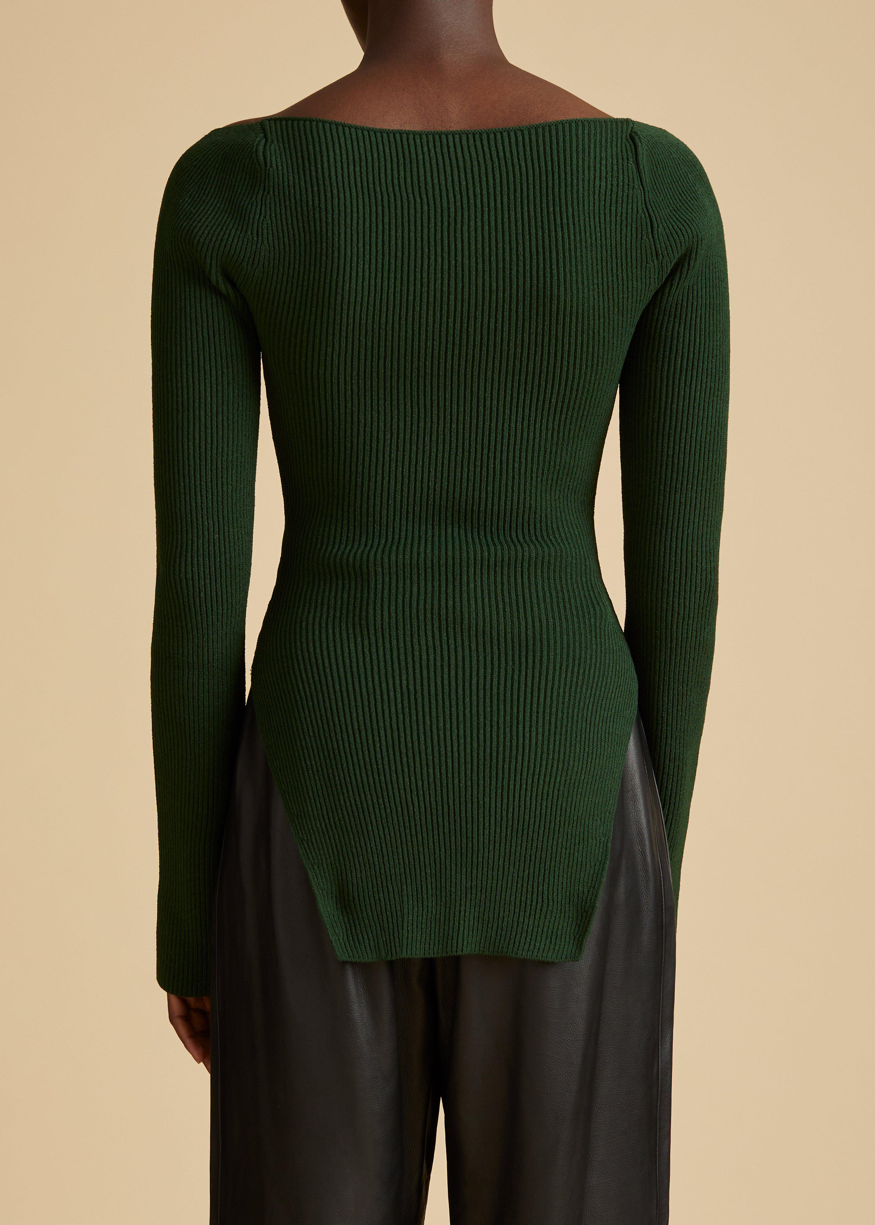 The Maddy Top in Deep Vert 2