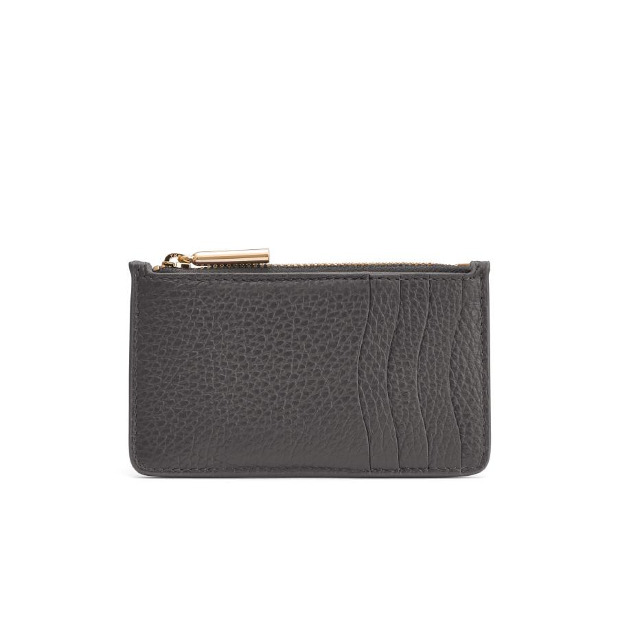 Women's Zip Cardholder in Charcoal | Pebbled Leather by Cuyana