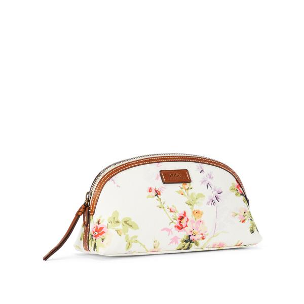 Canvas Floral Cosmetic Case 1