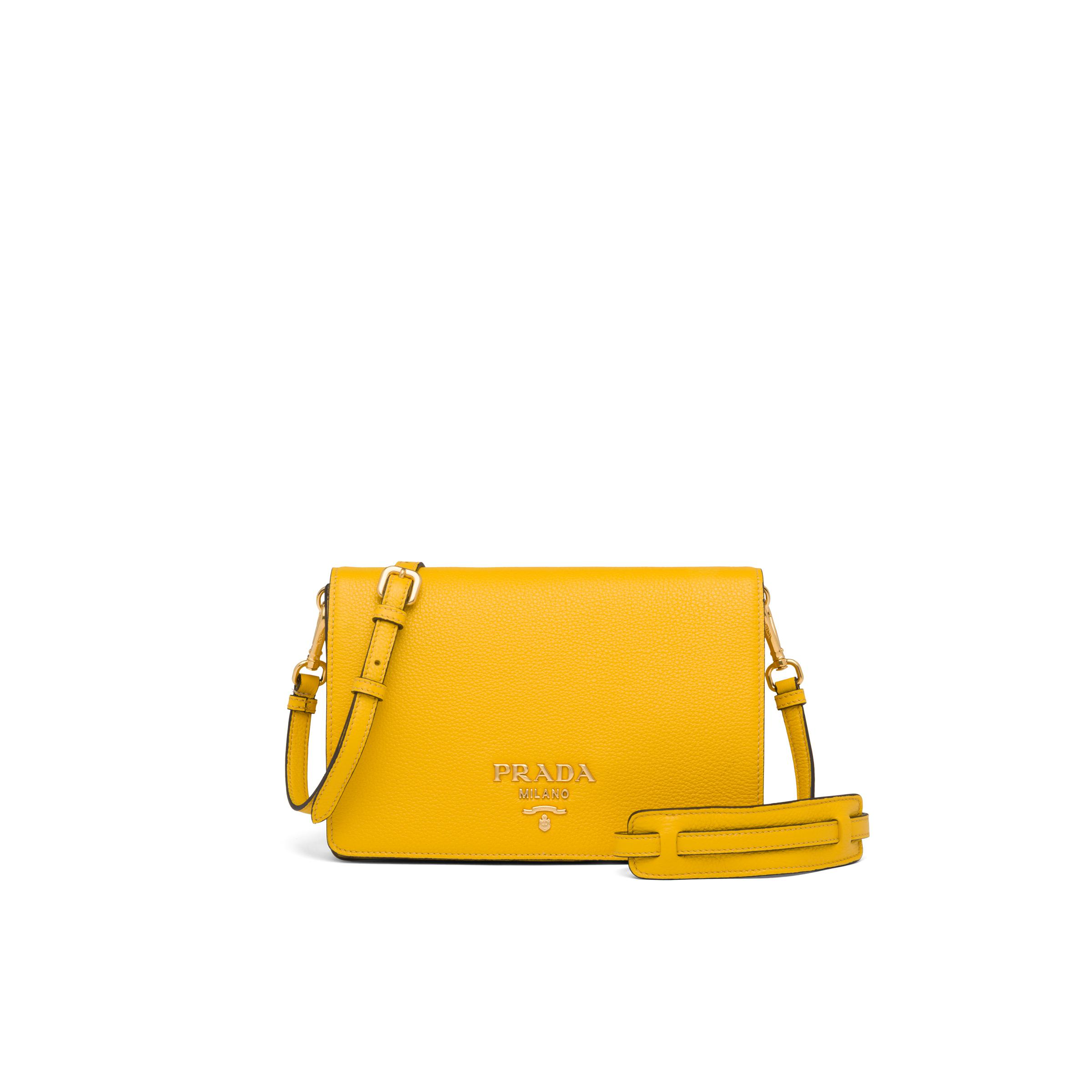 Leather Shoulder Bag Women Sunny Yellow