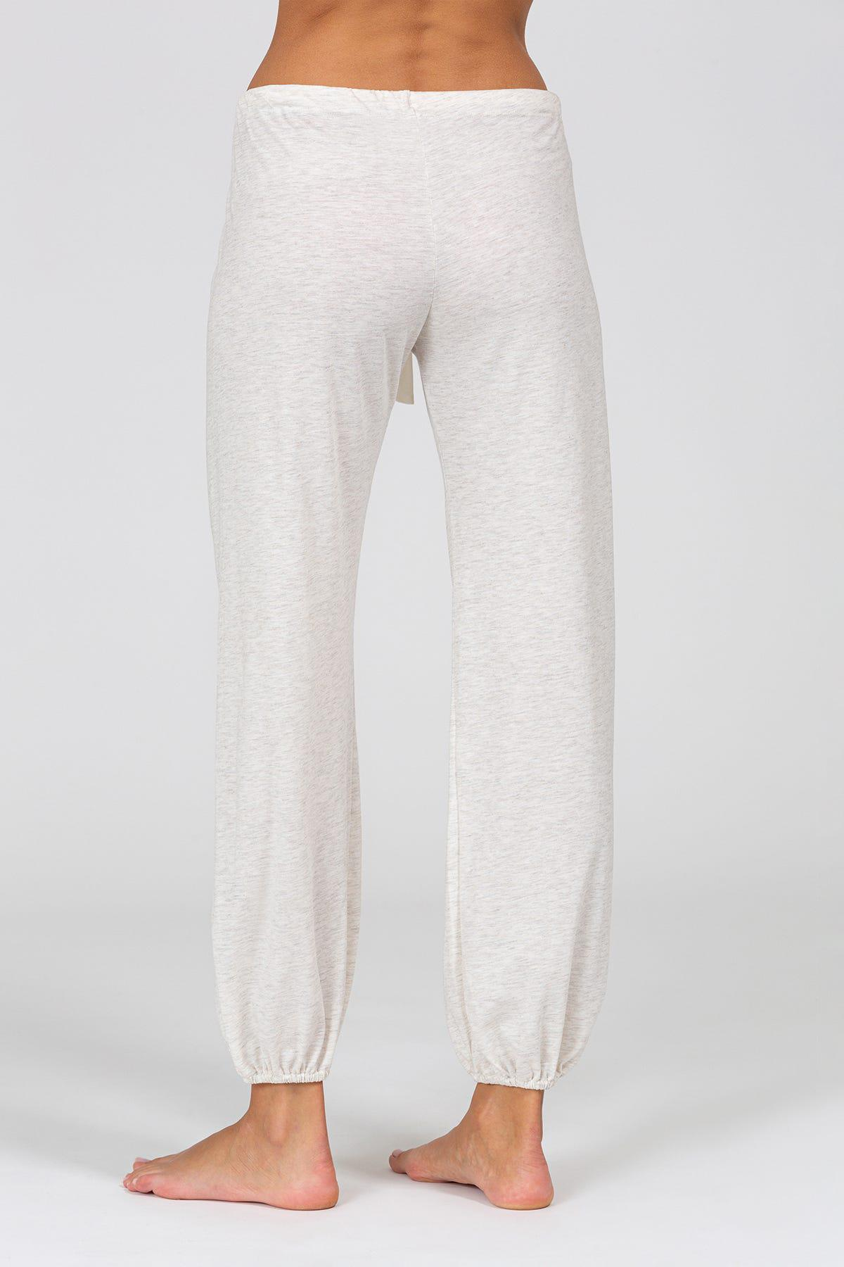Heather Cotton Blend Cropped Pant 1