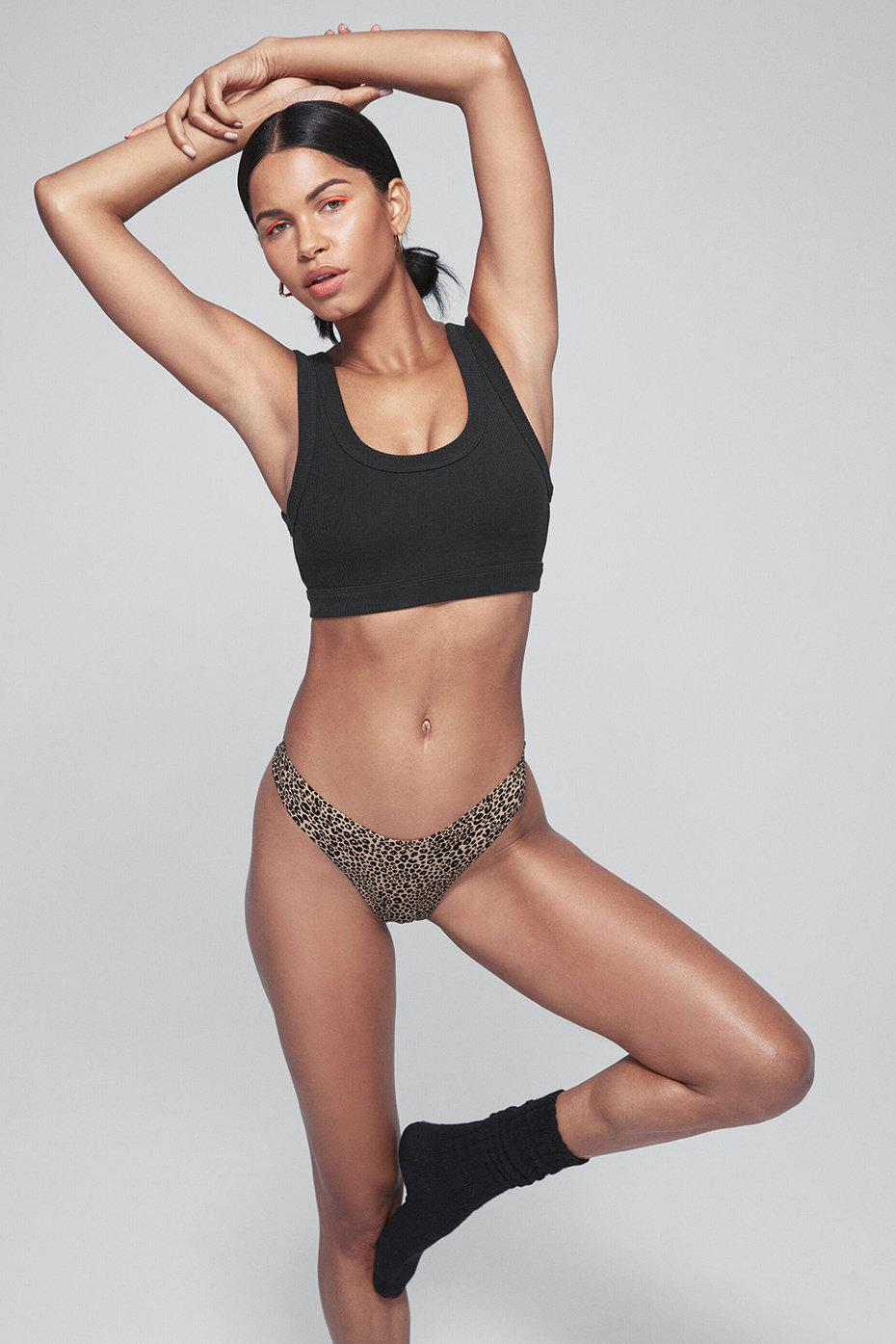 LEOPARD AIRBRUSH INVISIBLE THONG