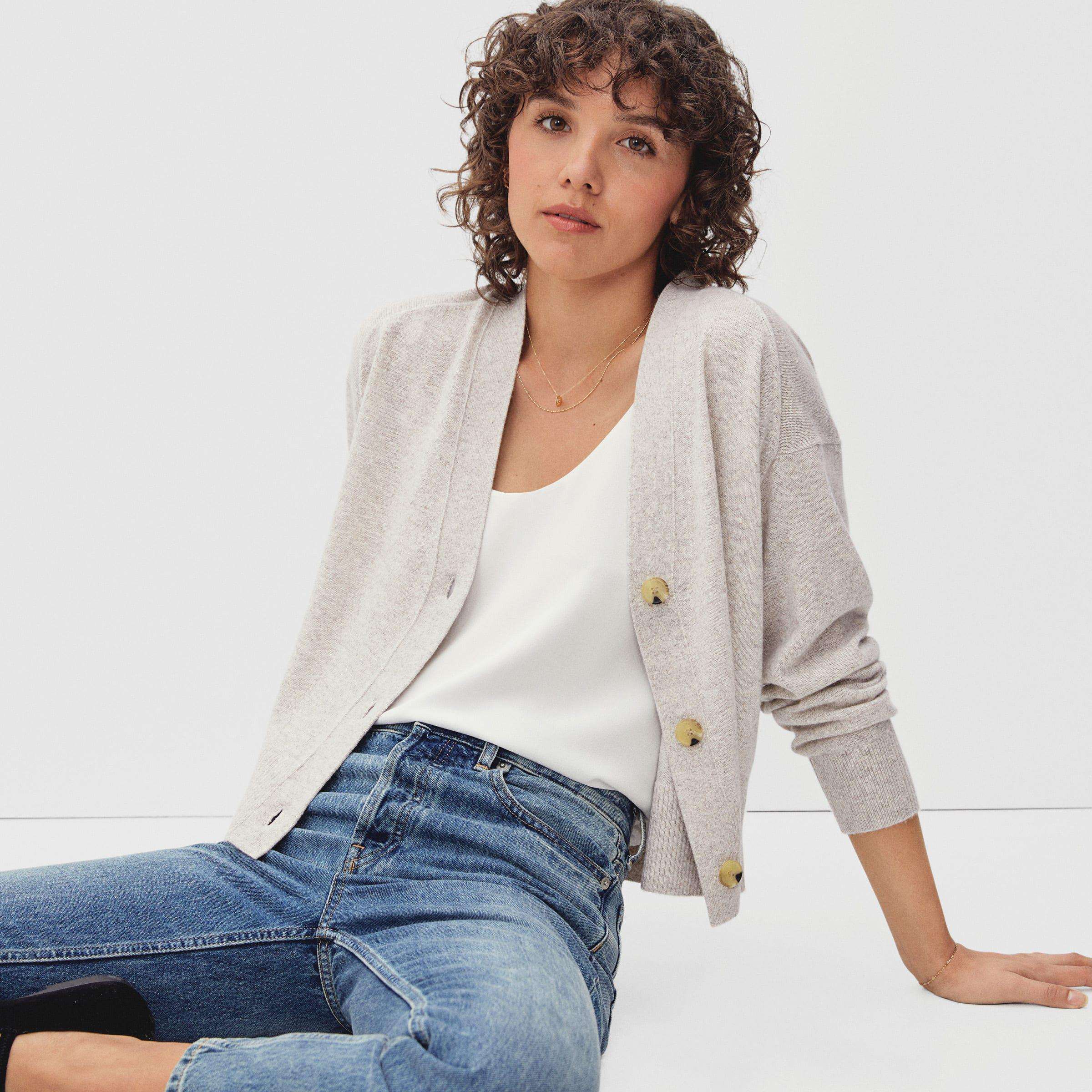 The Cropped Cashmere Cardigan
