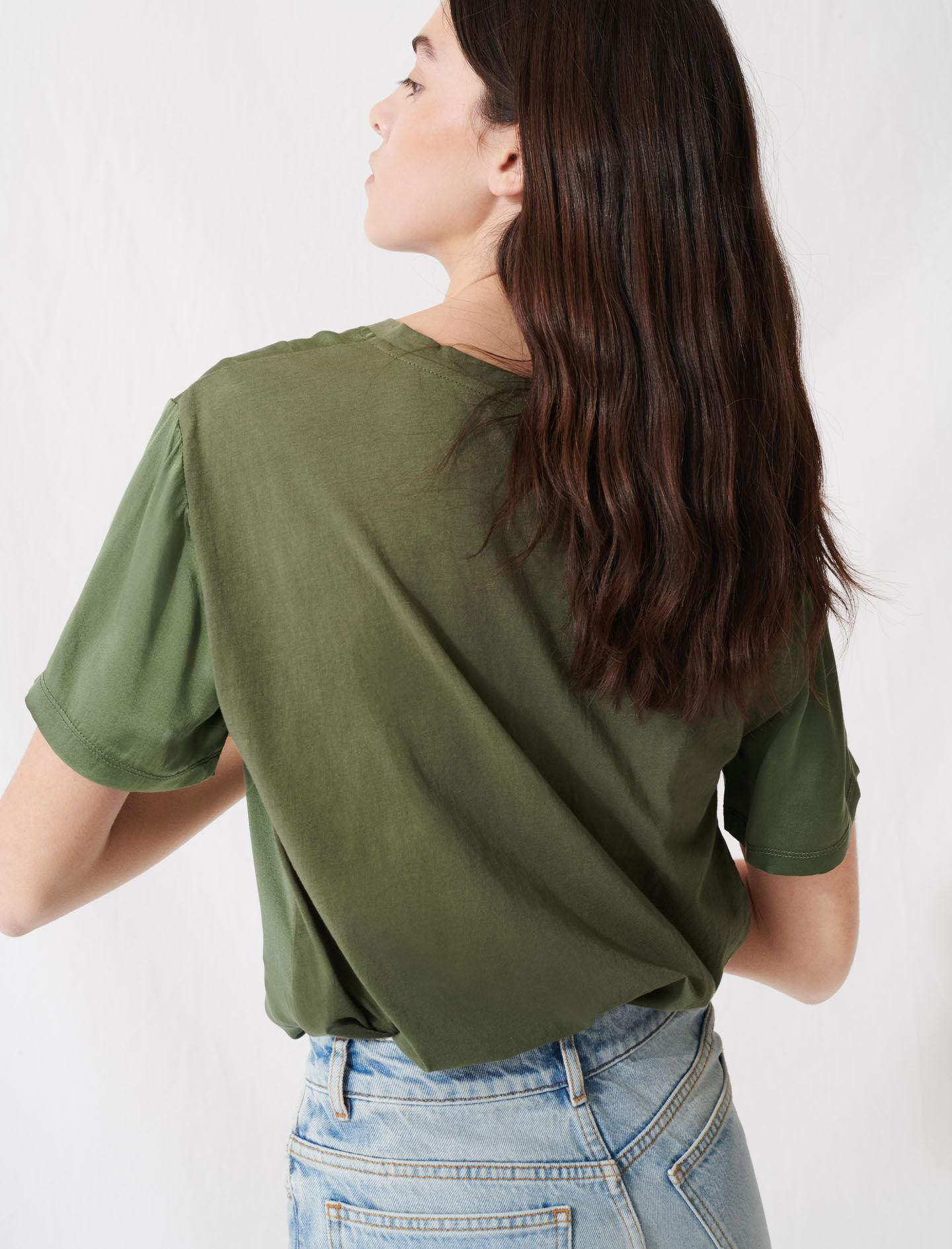 LOOSE-FITTING MATERIAL-MIX T-SHIRT 2