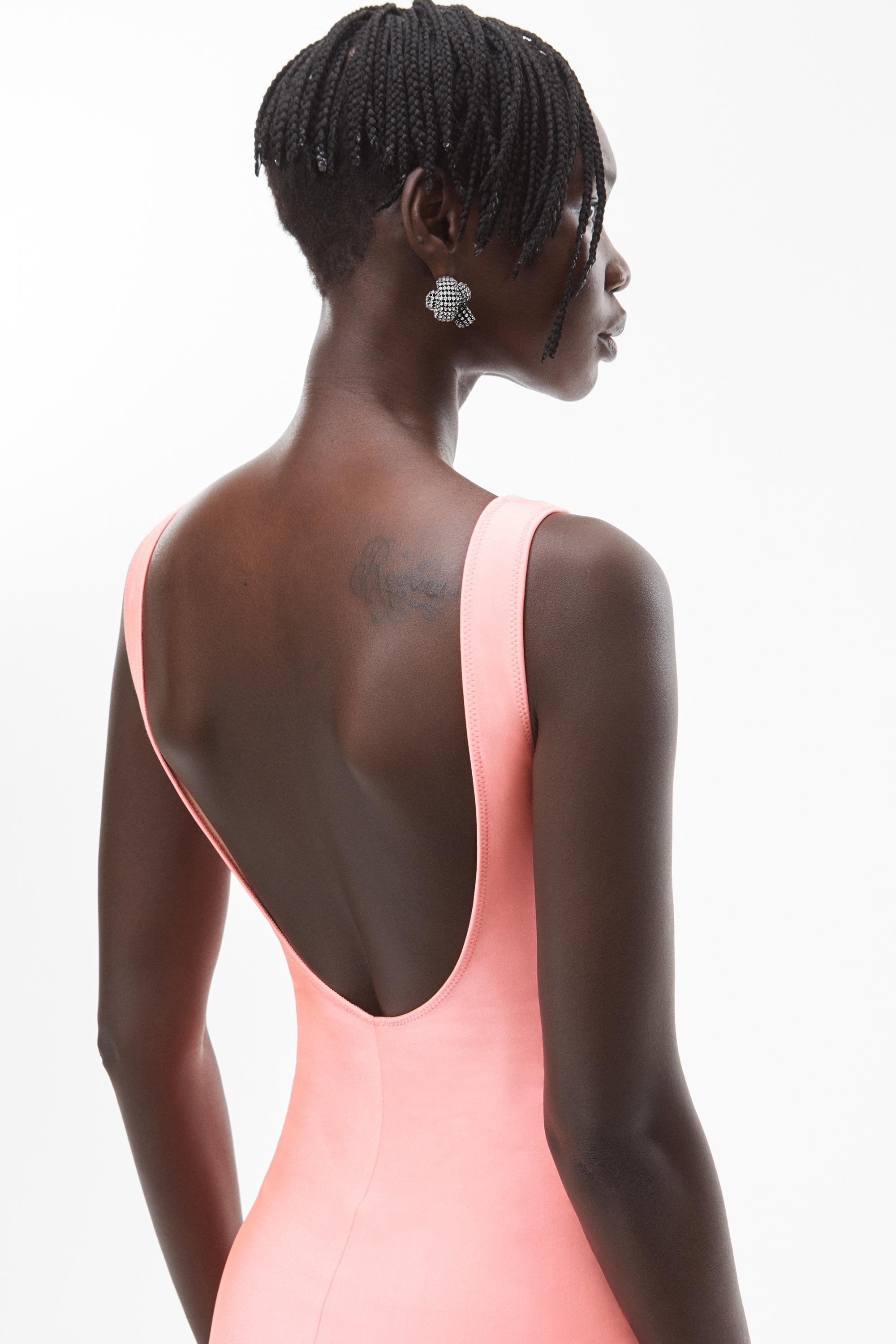 crystal logo gown in active stretch 5