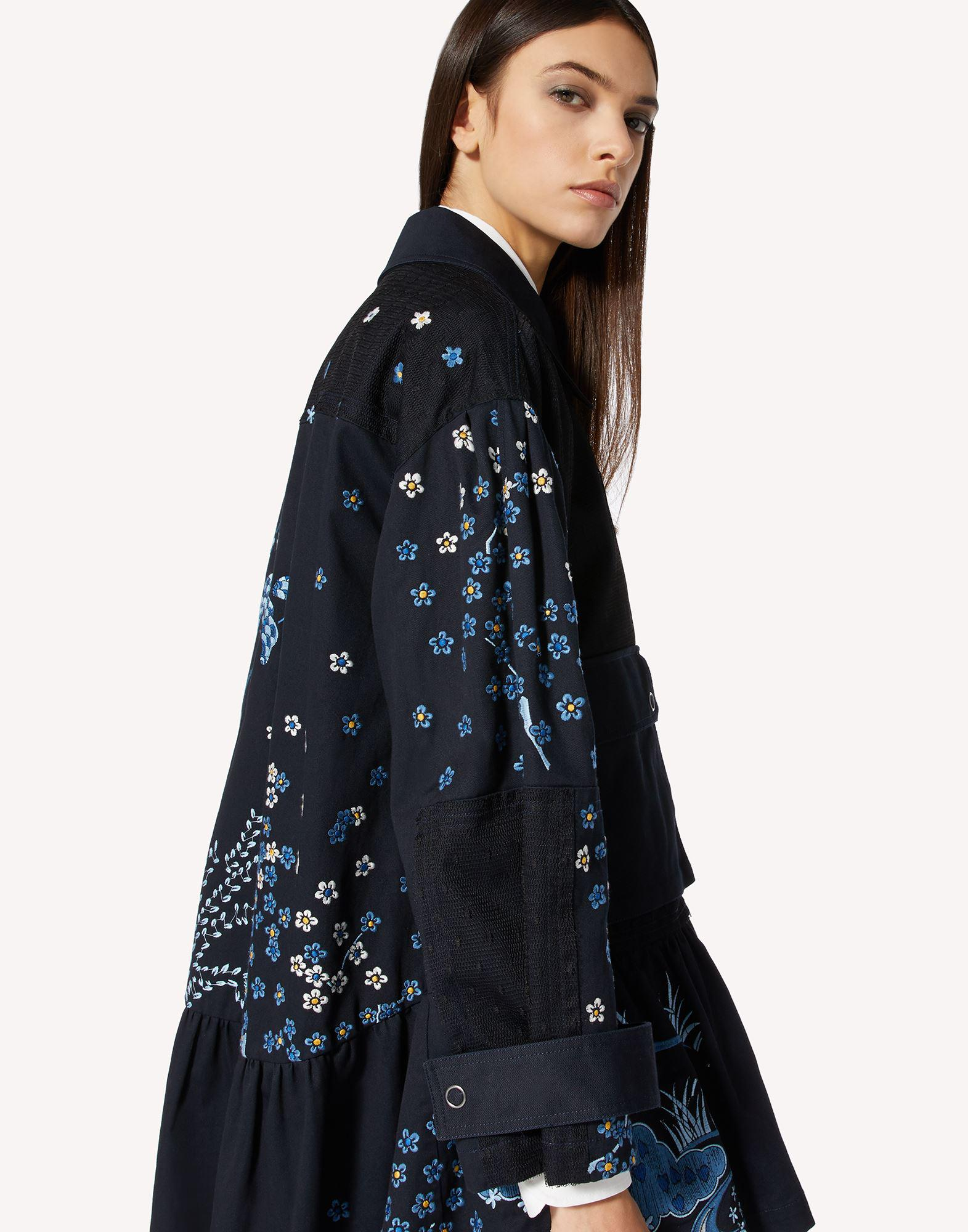 ASIAN TOILE DE JOUY EMBROIDERED PEA COAT 3