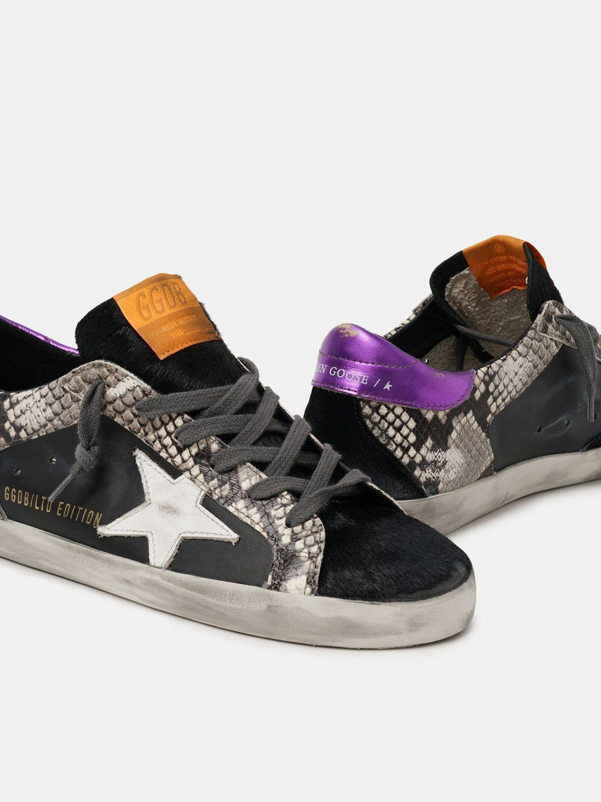 Women's Limited Edition LAB snake-print Super-Star sneakers with purple heel tab 3