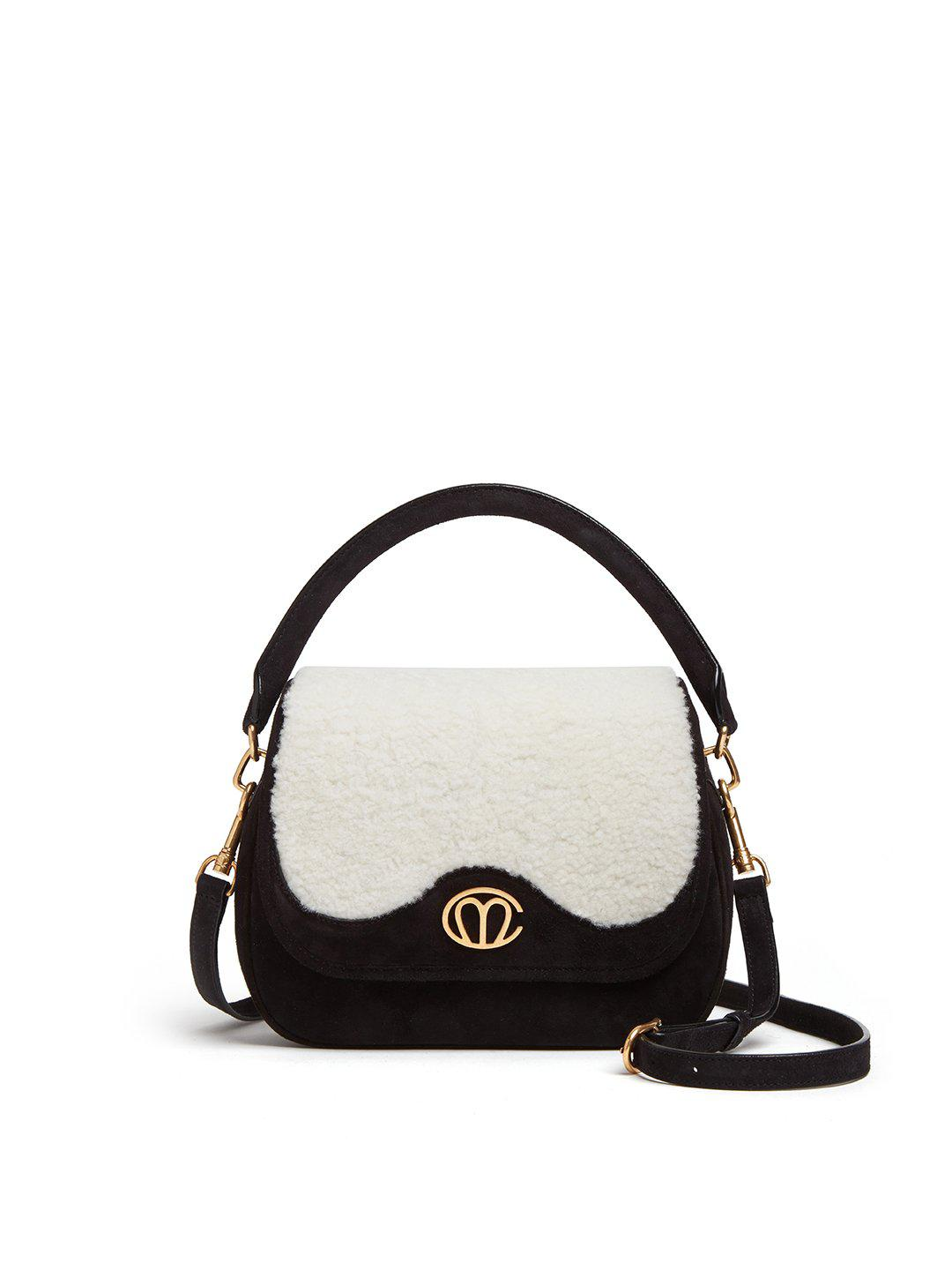 Christy Small Suede Top Handle Bag