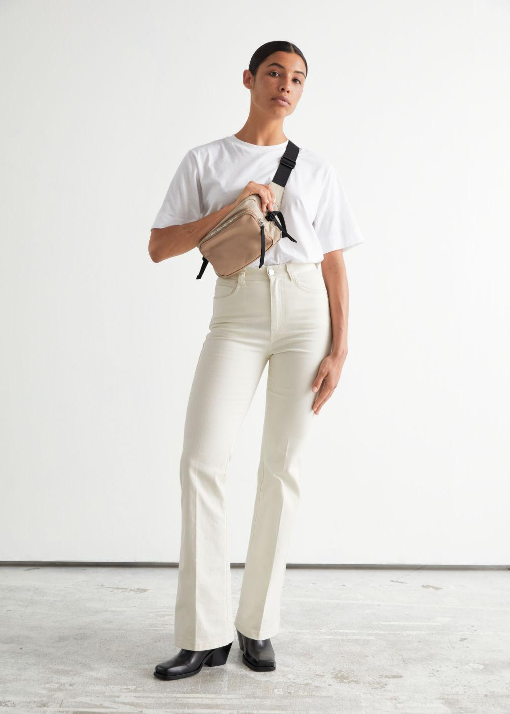 Flared Cotton Trousers