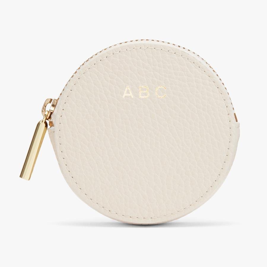 Women's Leather Coin Pouch in Ecru | Pebbled Leather by Cuyana 2