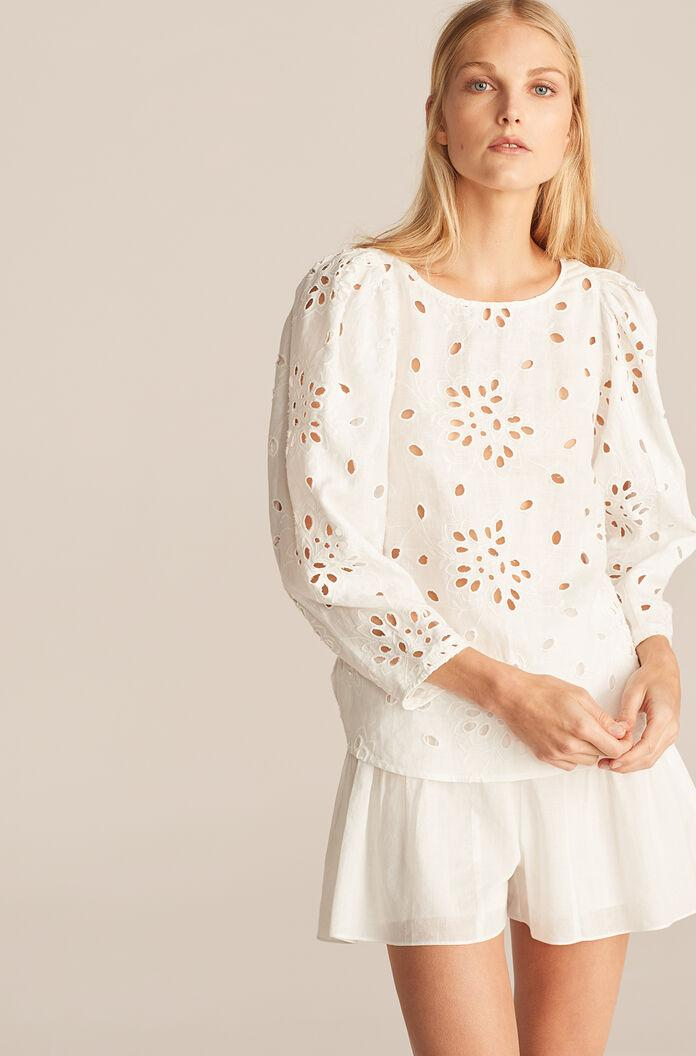SARAH EMBROIDERY BLOUSE