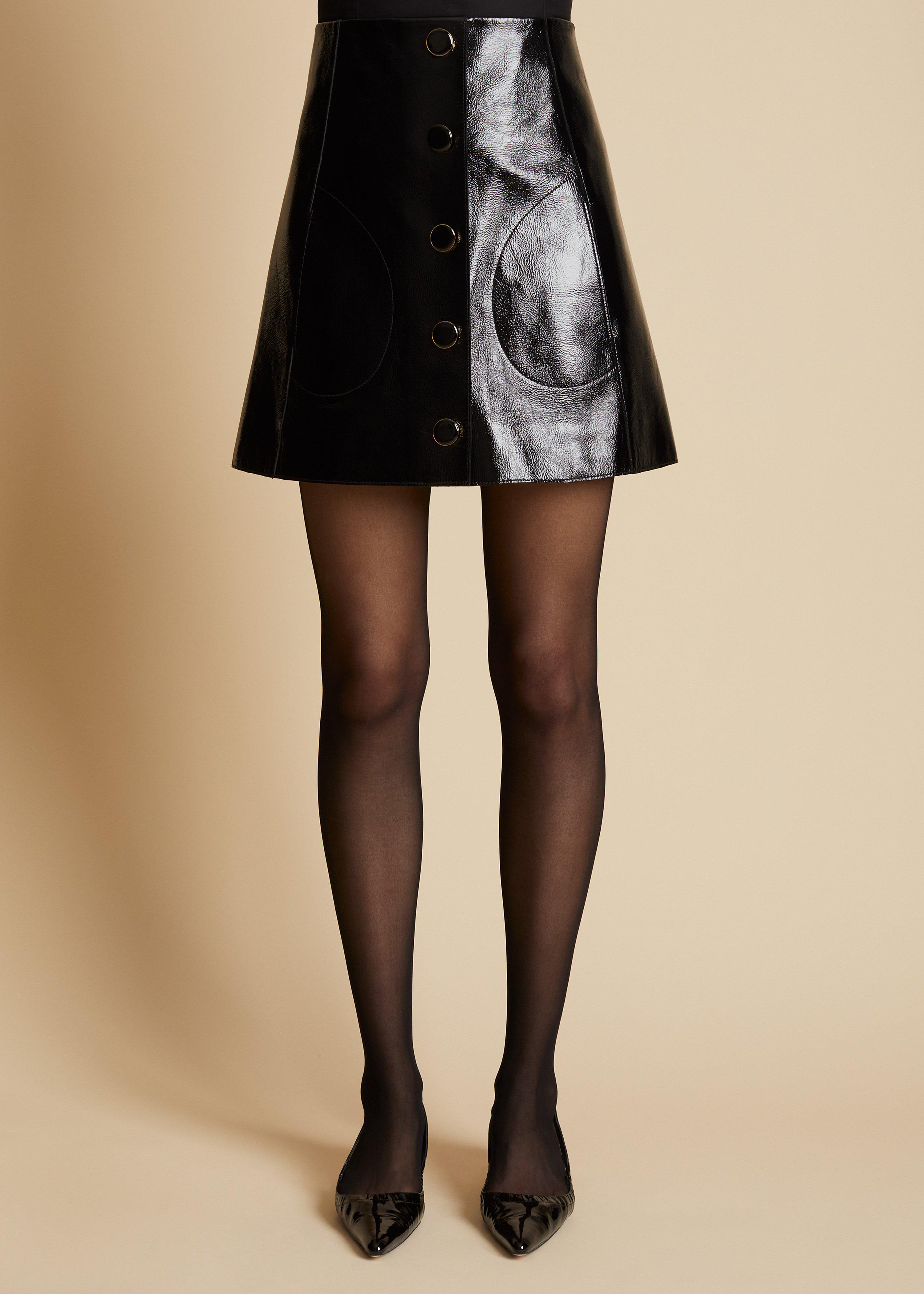 The Sam Skirt in Black Patent Leather 1