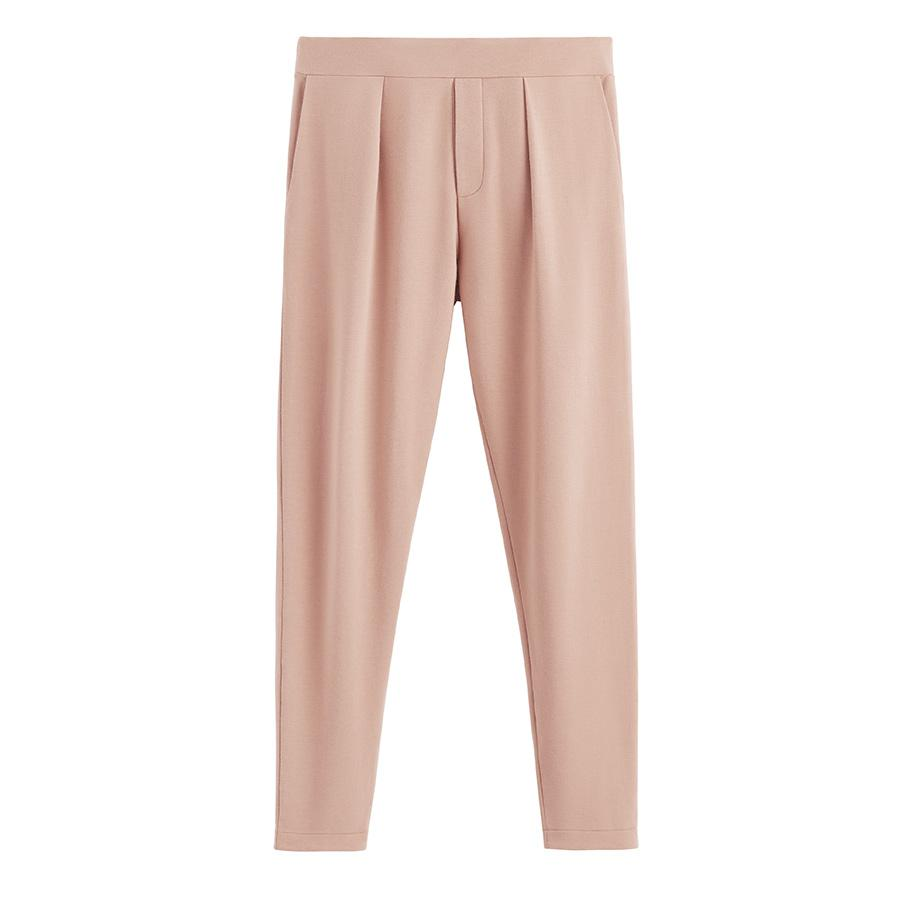 Women's French Terry Pleated Front Pant in Quartz | Size: