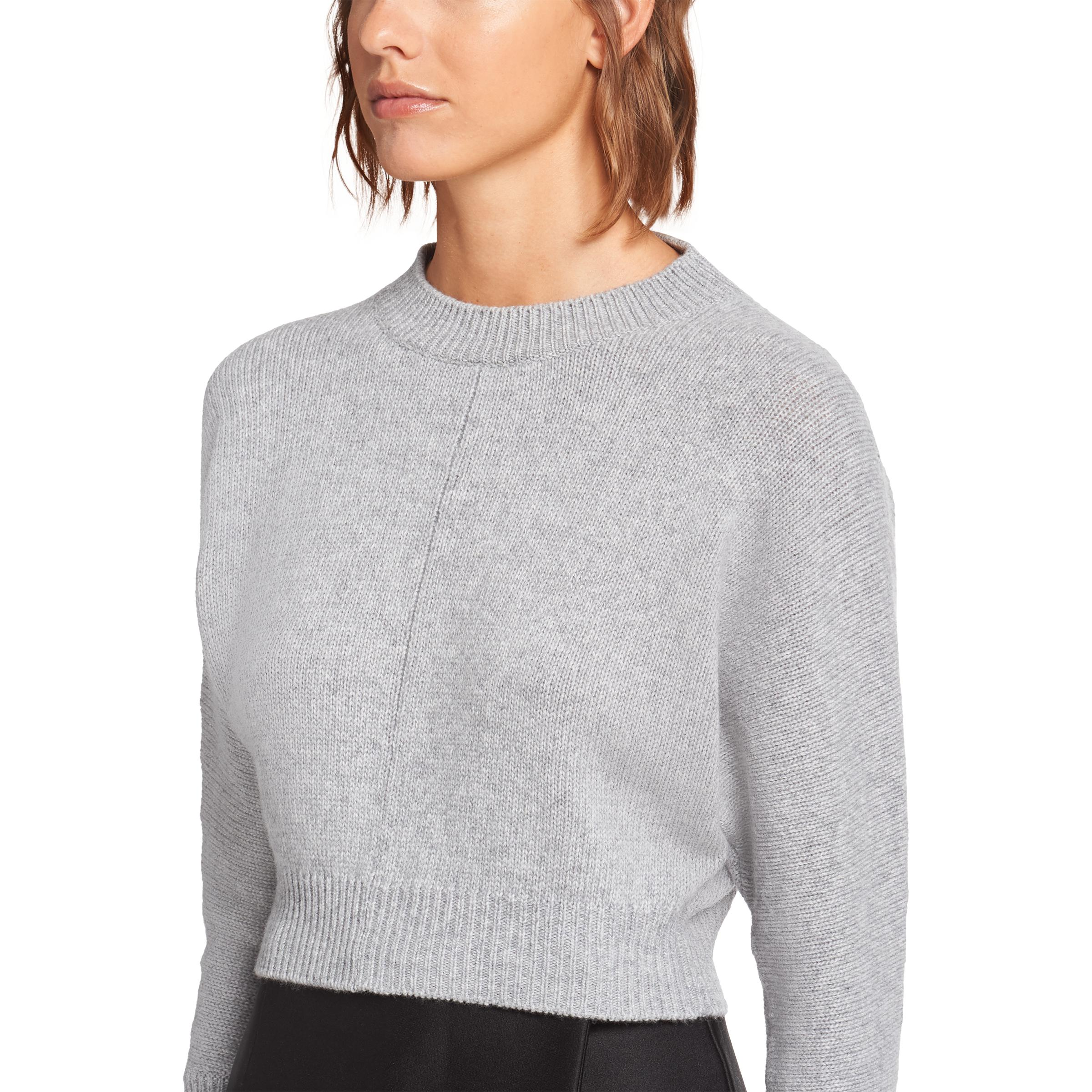 Cashmere Wool Crew-neck Sweater Women Marble Gray 4
