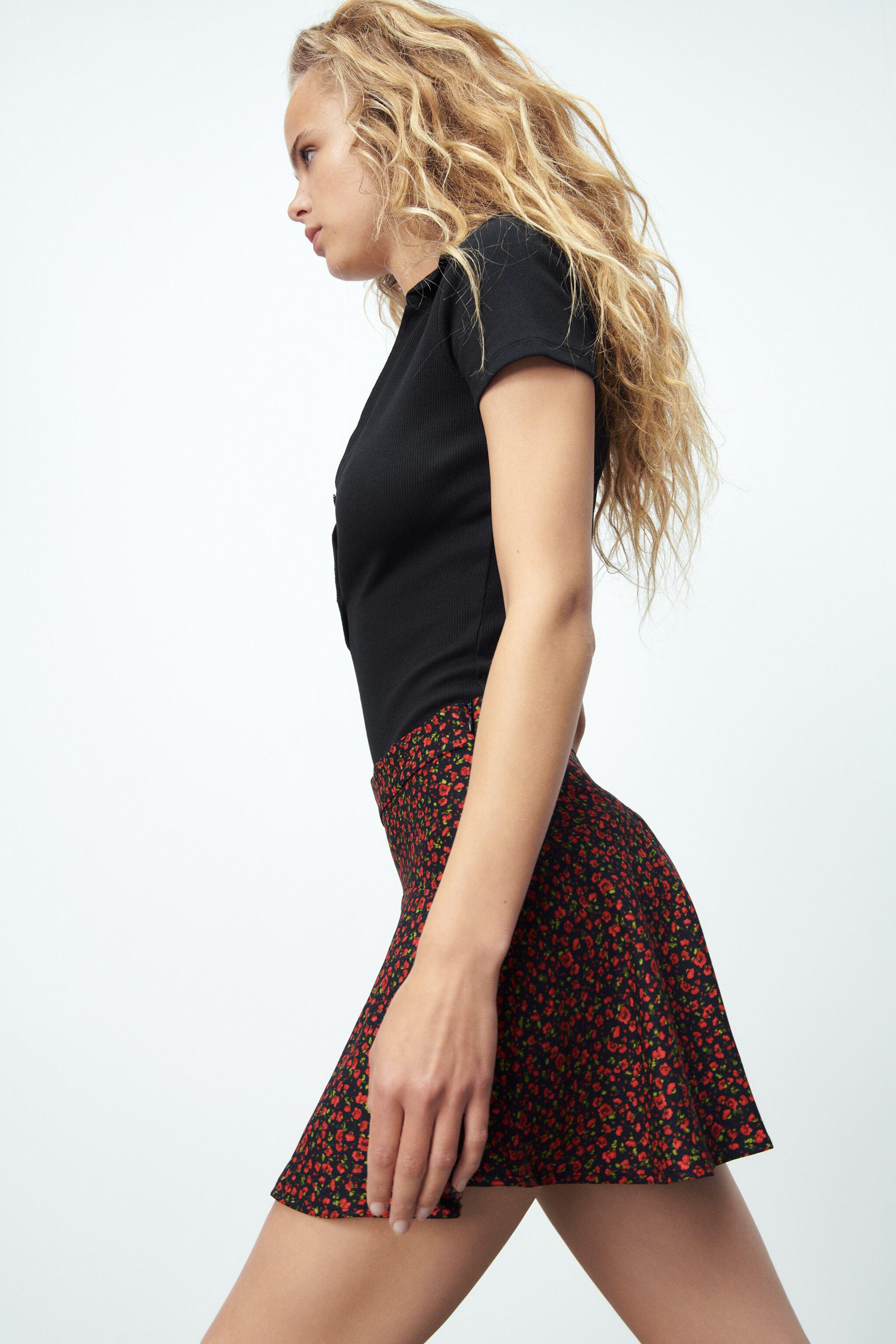 PRINT PANTS WITH SKIRT FRONT 3