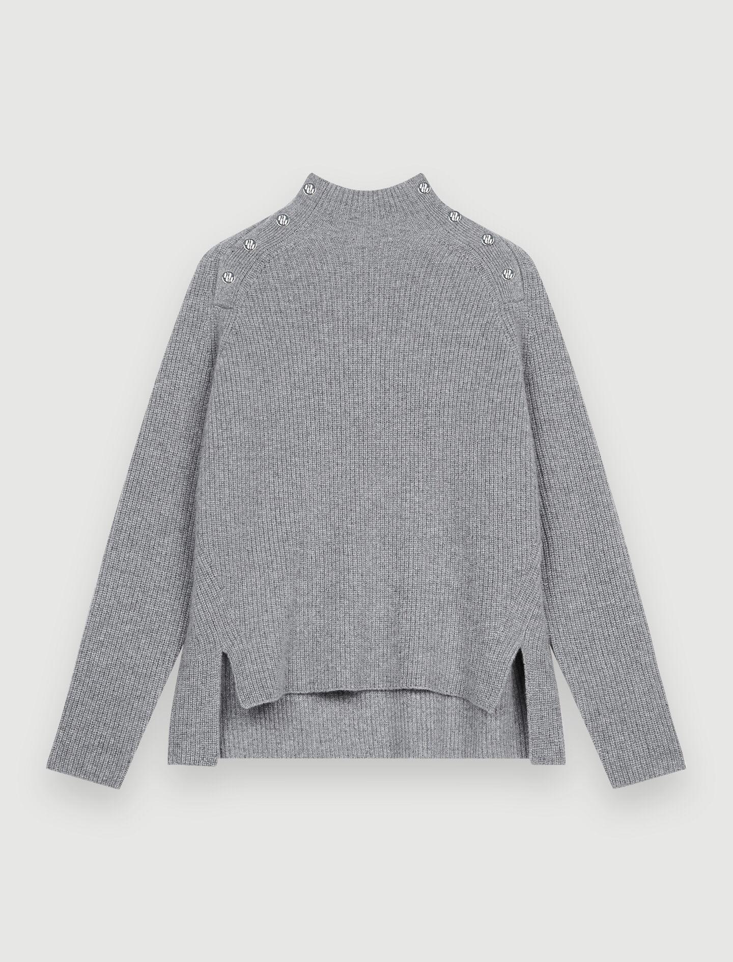 100% CASHMERE SWEATER WITH COLLAR 5