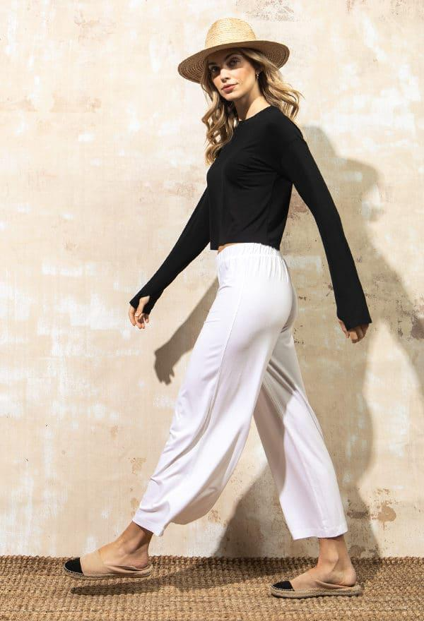 Ines – Wide Leg Cropped Pant
