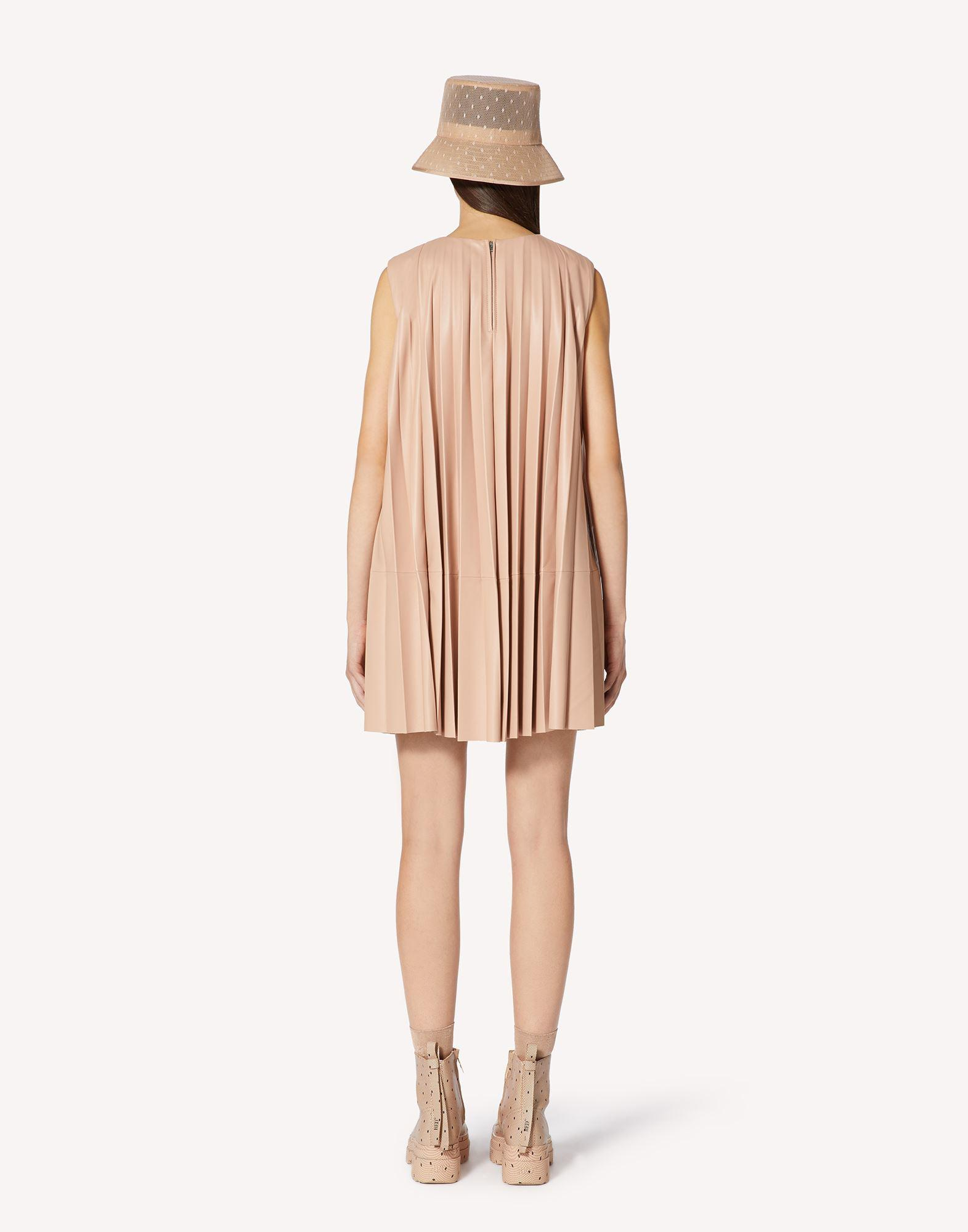 PLEATED LEATHER DRESS 1