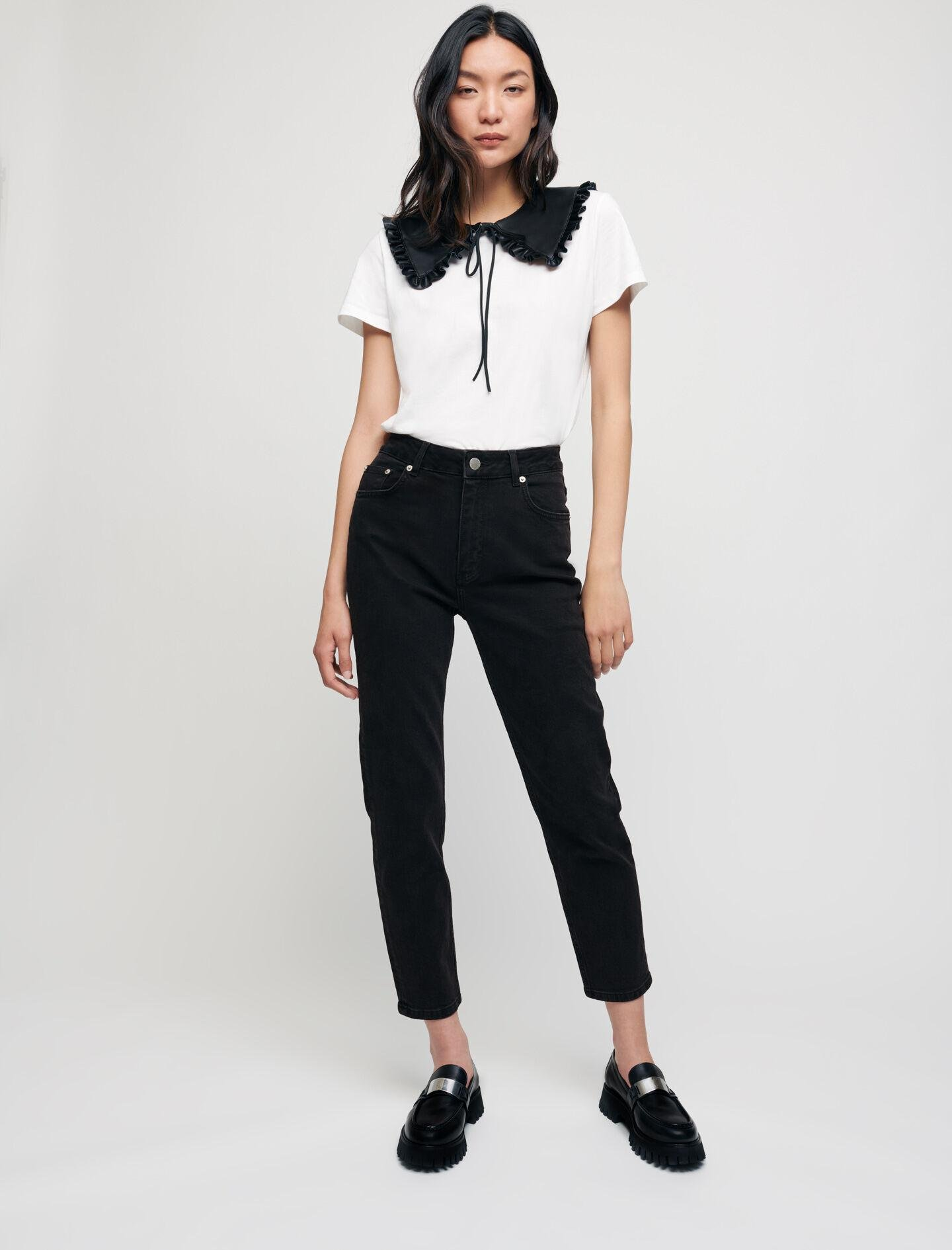 MOM-STYLE HIGH-WAISTED STRAIGHT JEANS