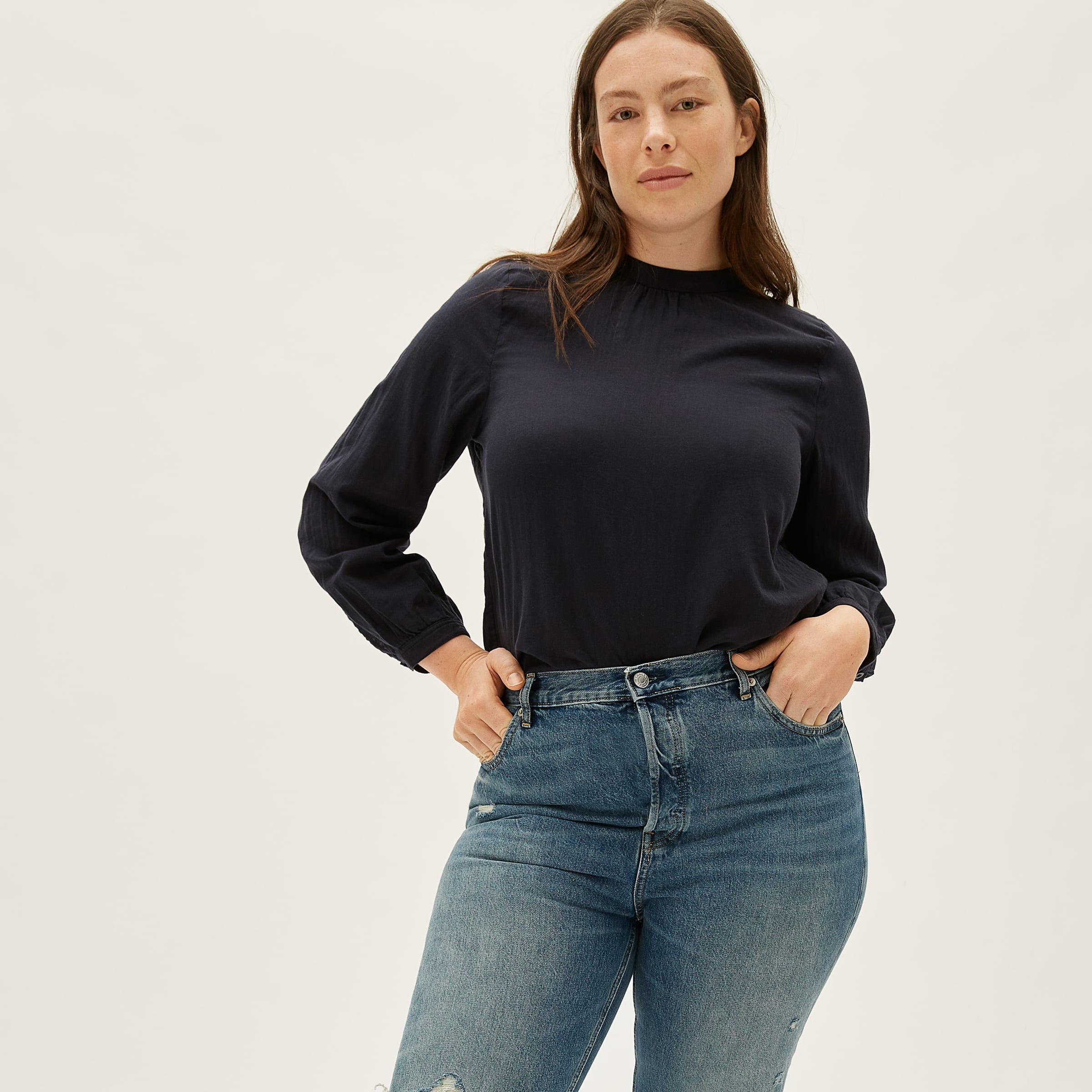 The Double-Gauze Shirred Top