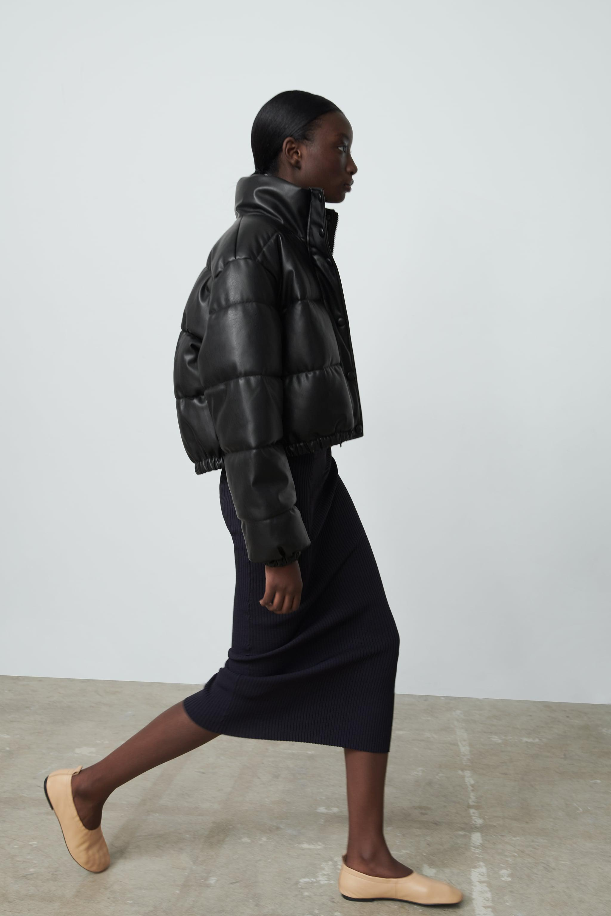 FAUX LEATHER PUFFER JACKET 3