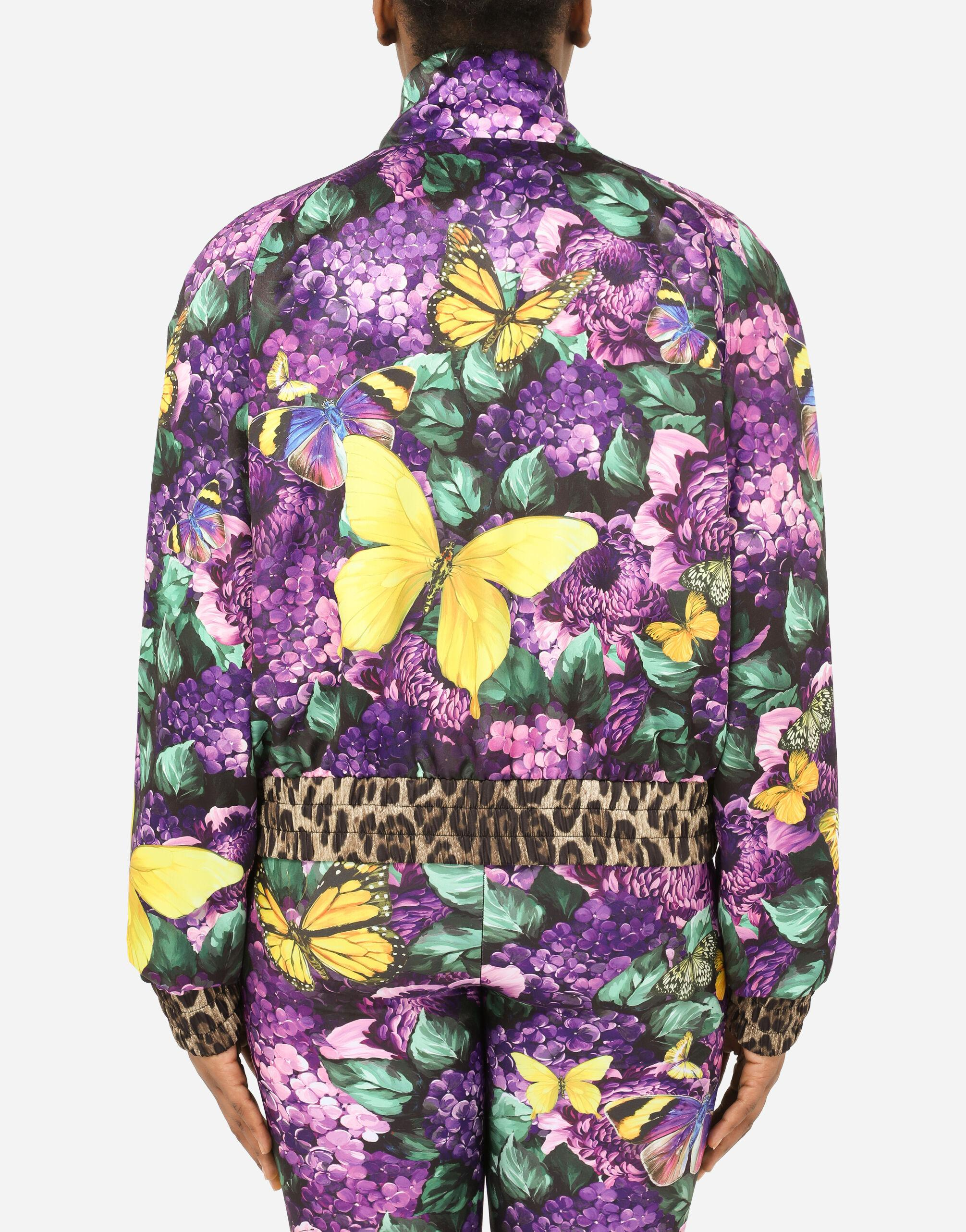 Cropped butterfly-print bomber jacket 9