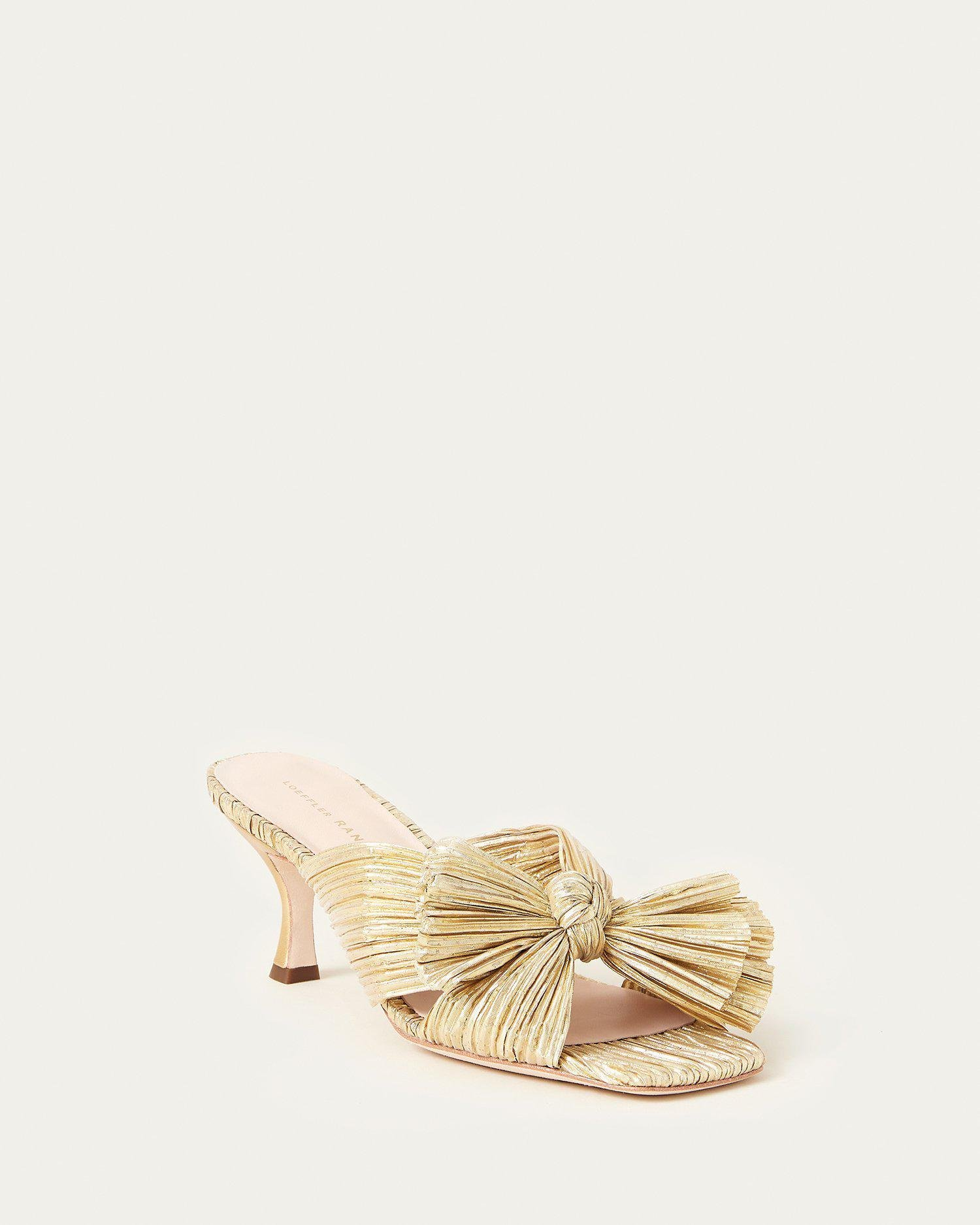 Eugenia Bow Mule Gold