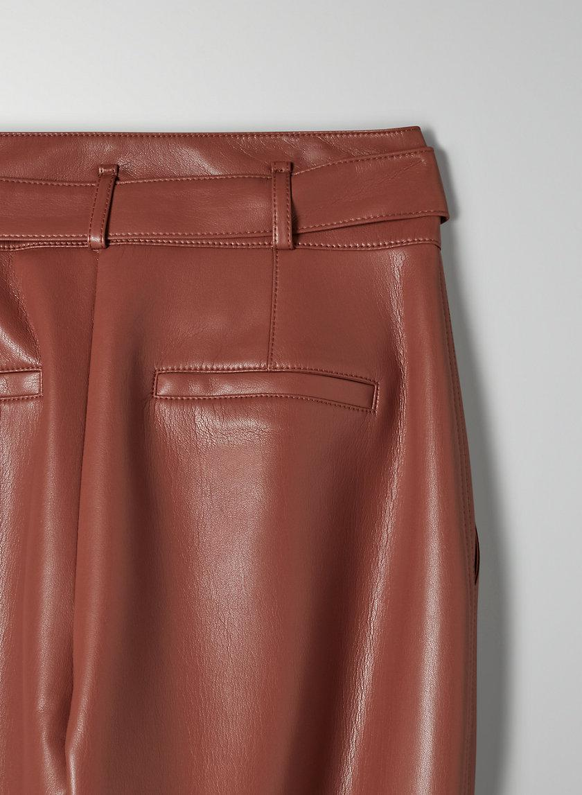 Vegan Leather Belted Pant 6