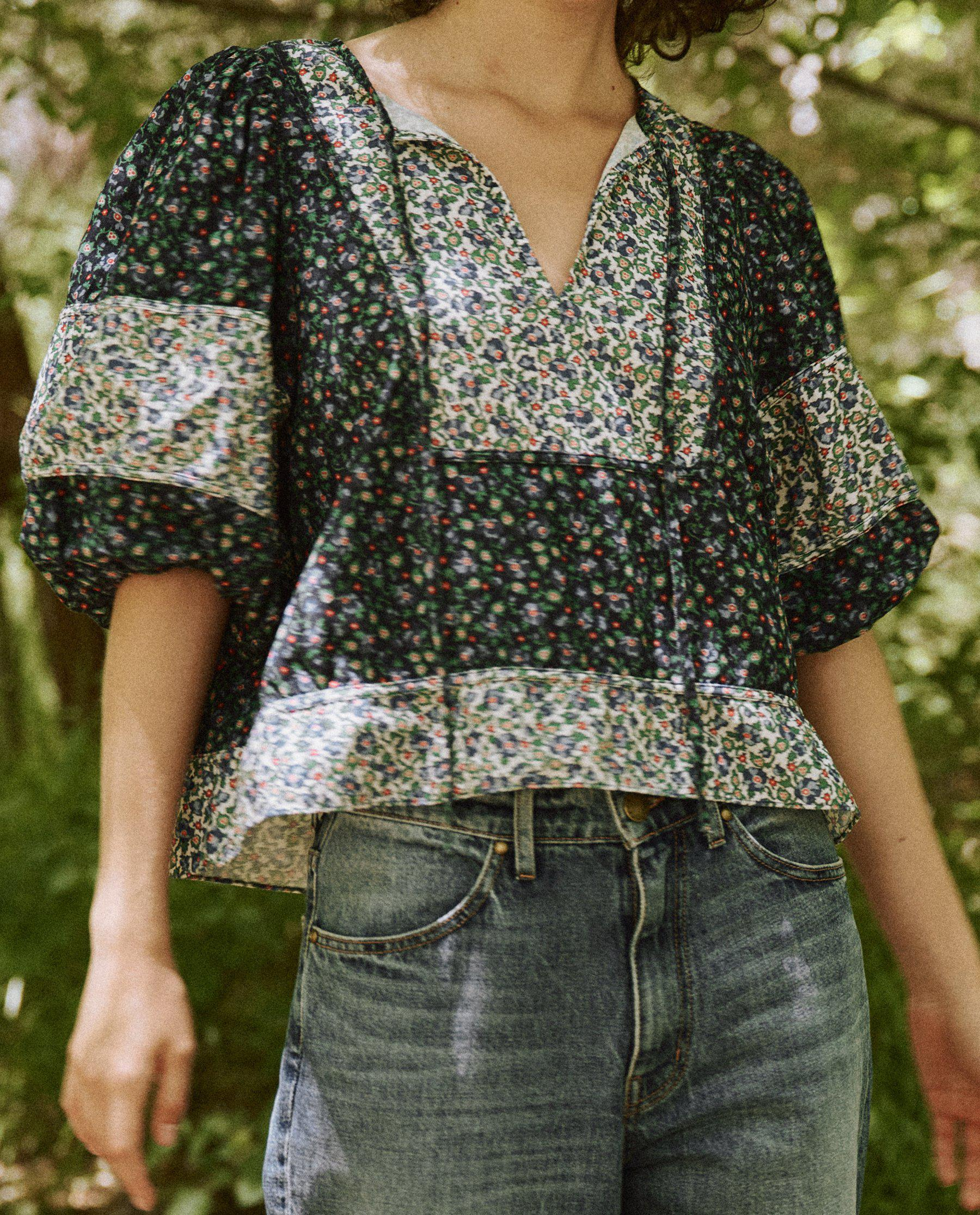 The Maiden Top. -- Patchwork Field Floral