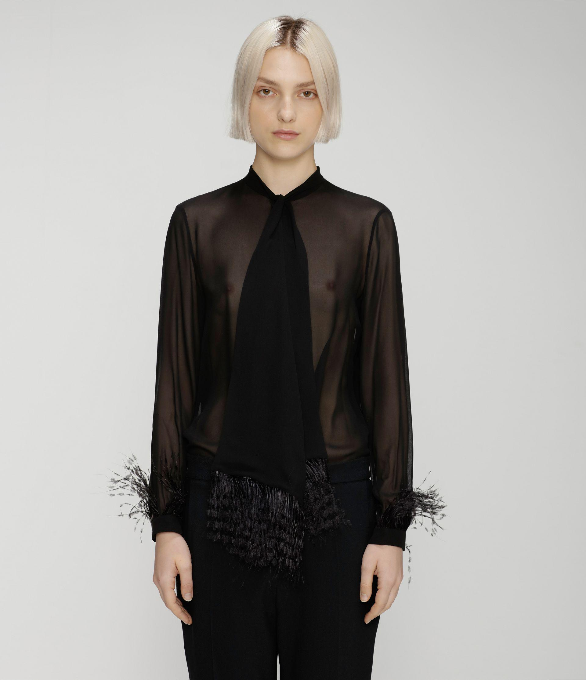 feather blouse