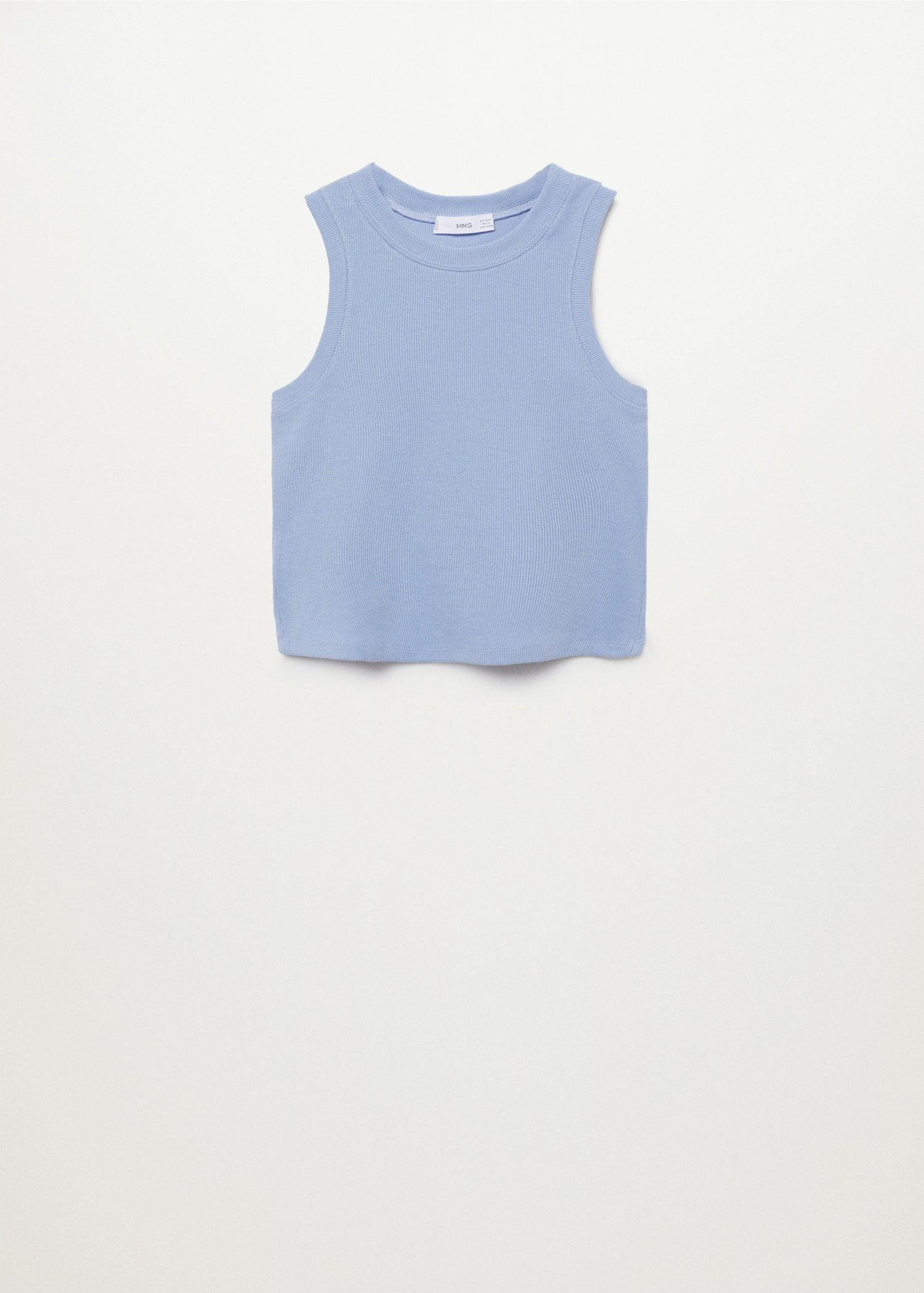 Ribbed cotton-blend top 7