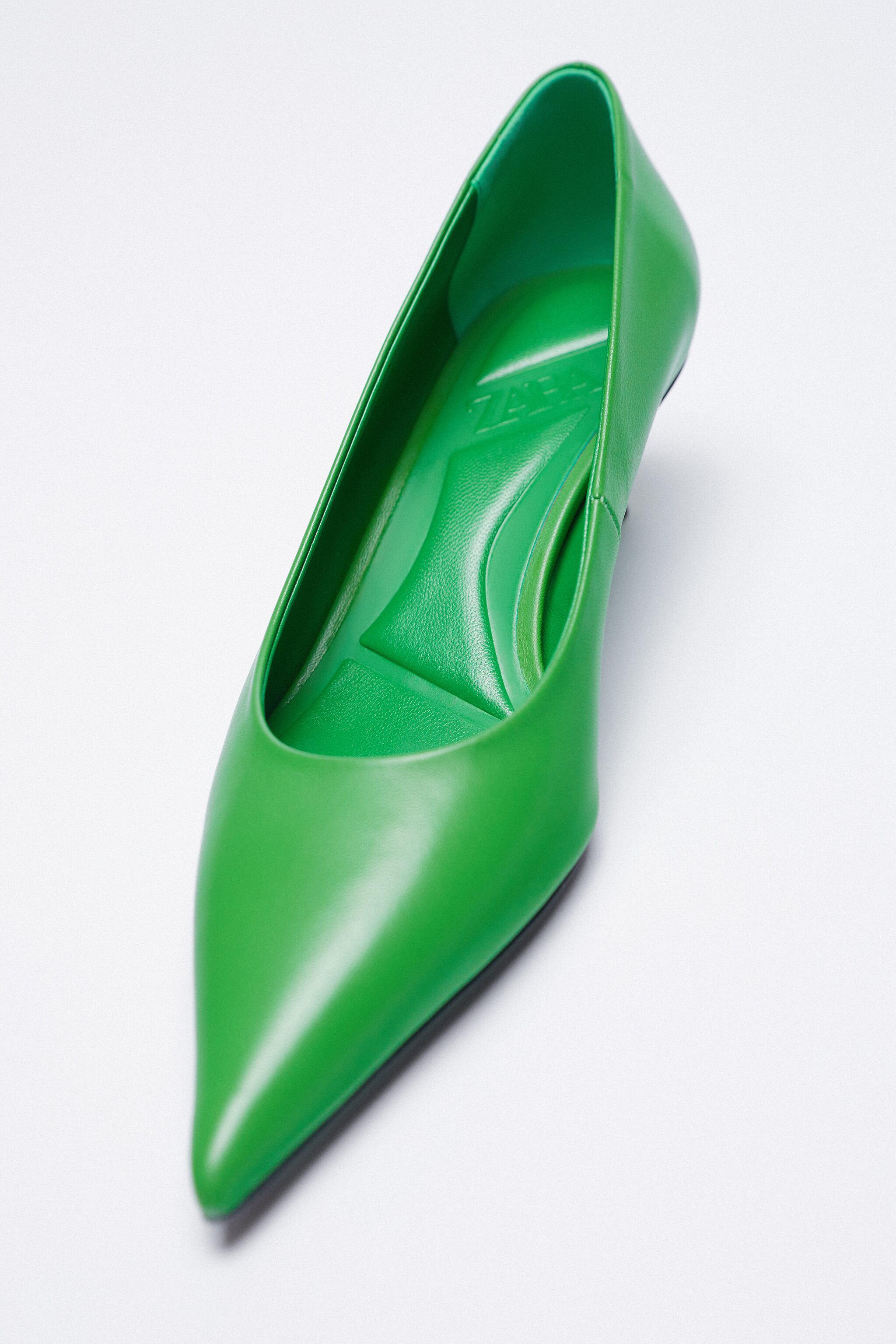 LEATHER HEELS WITH POINTED TOE 13