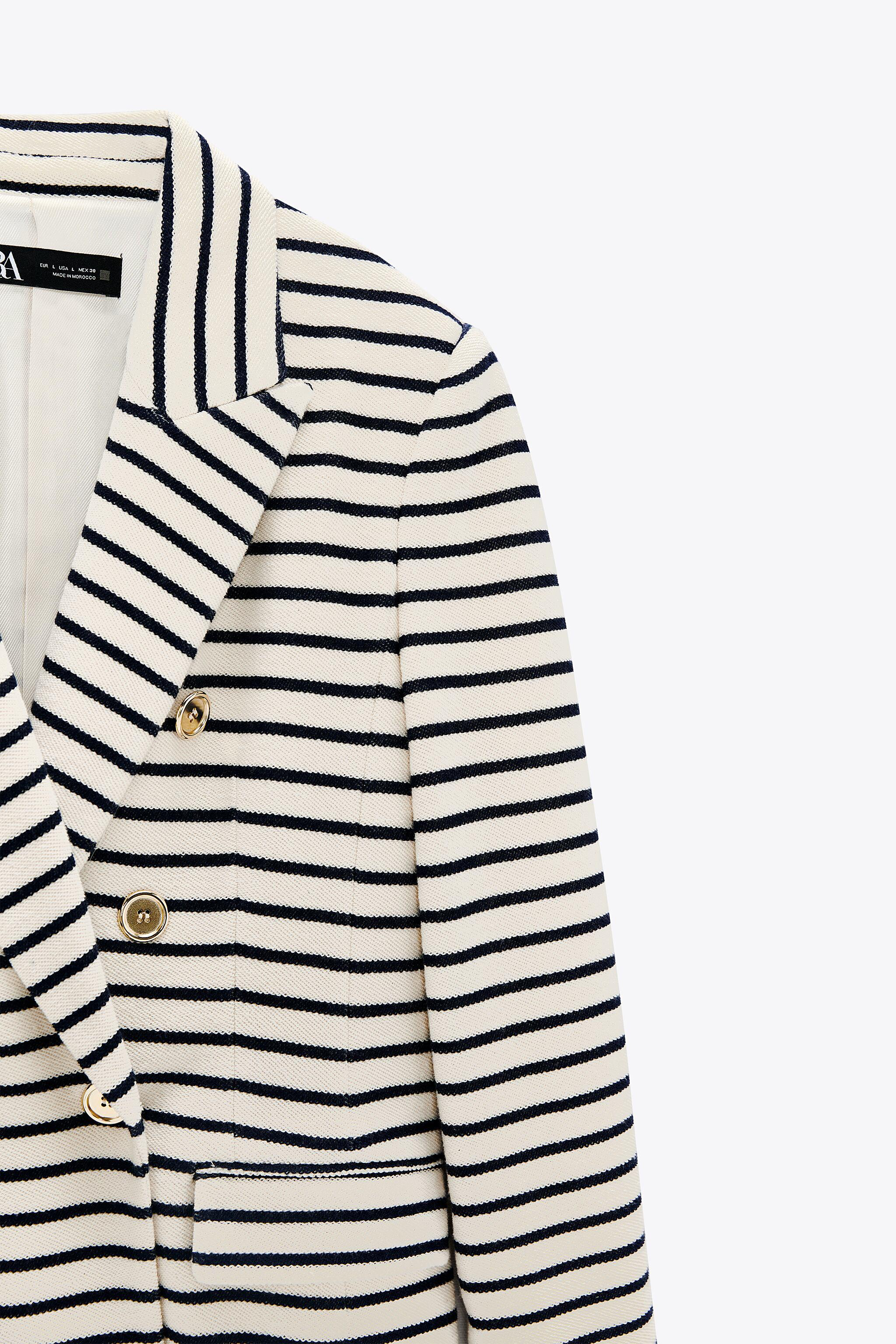 DOUBLE BREASTED STRIPED BLAZER 8