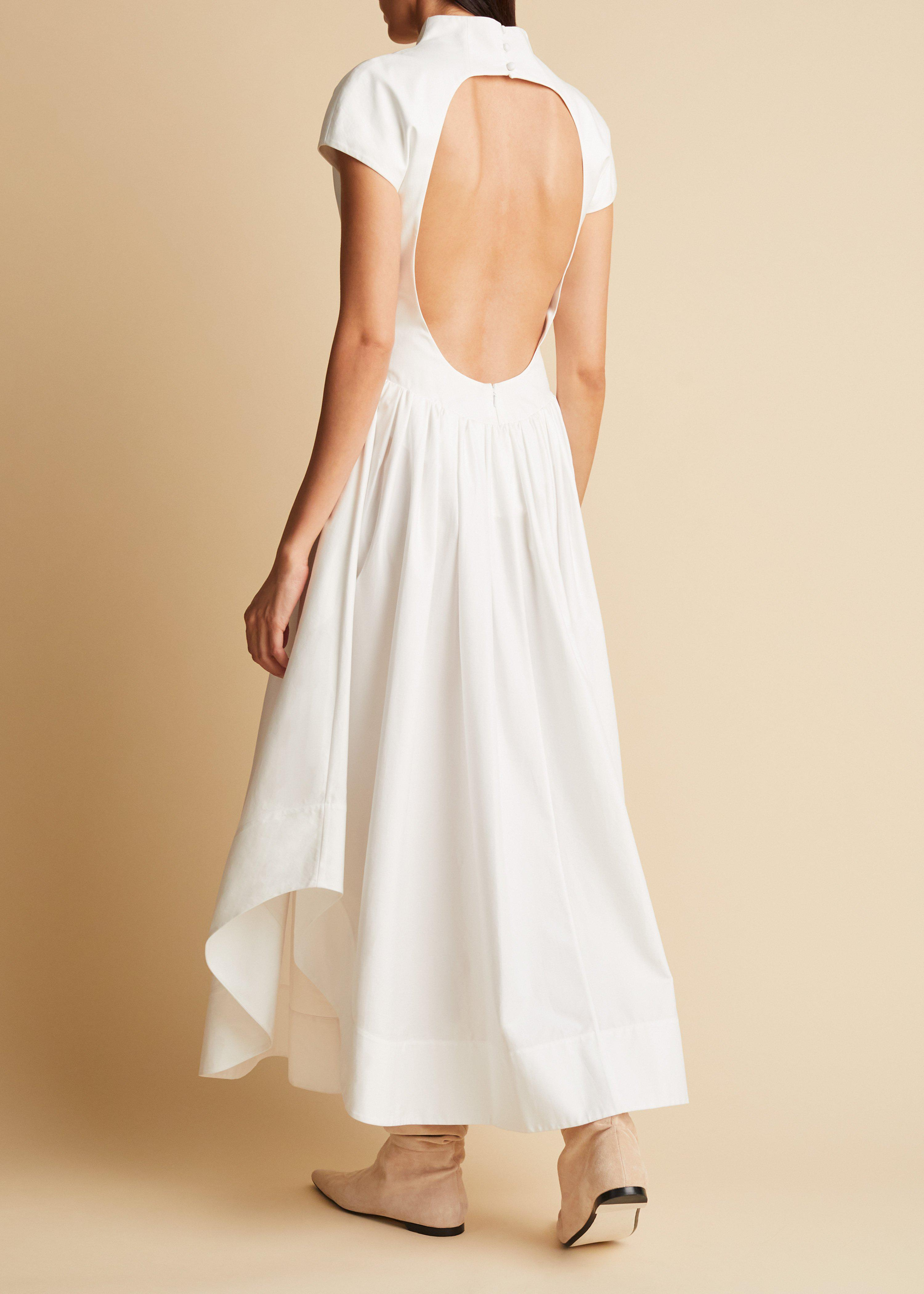 The Lenore Dress in White