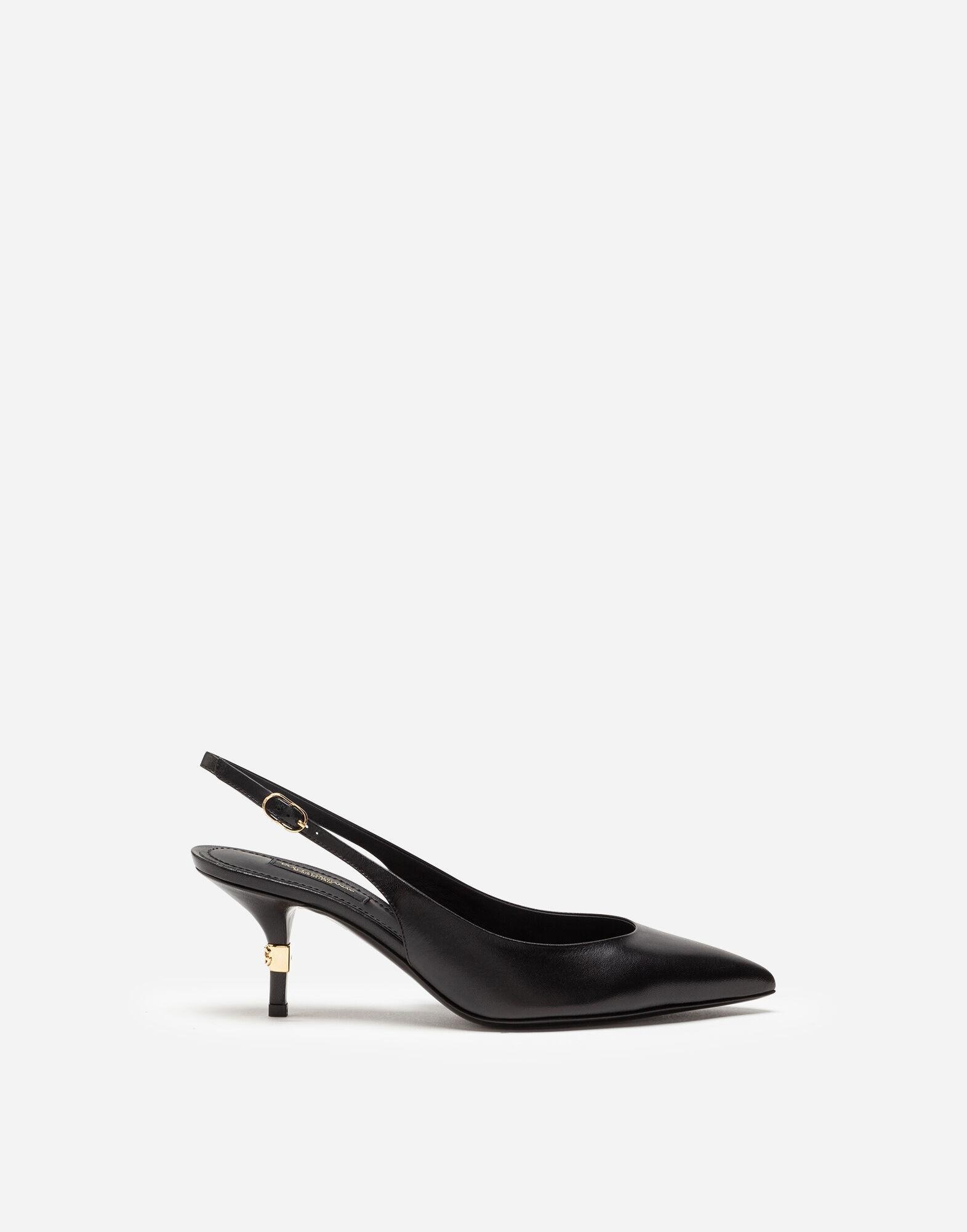 Slingbacks in young goatskin with DG logo