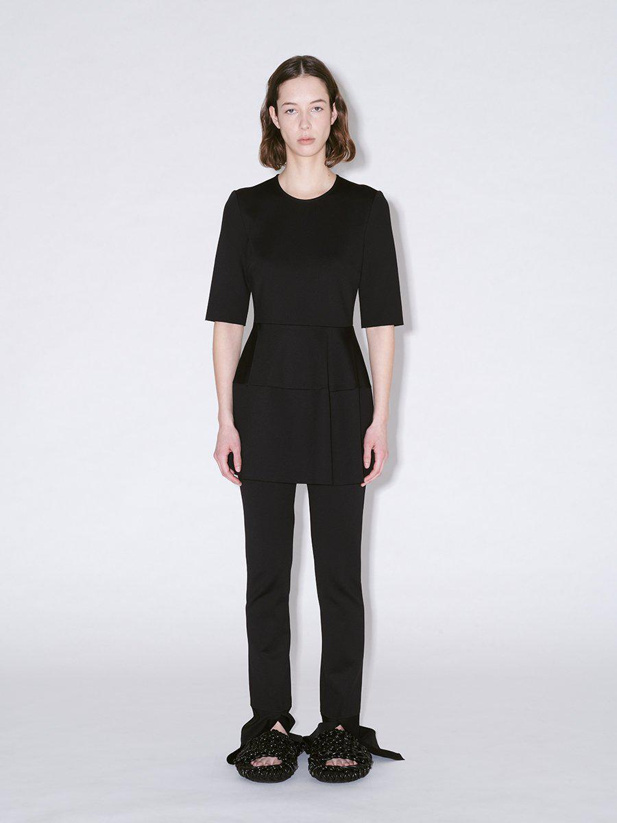 FITTED SHORT SLEEVE LANTERN TOP 1