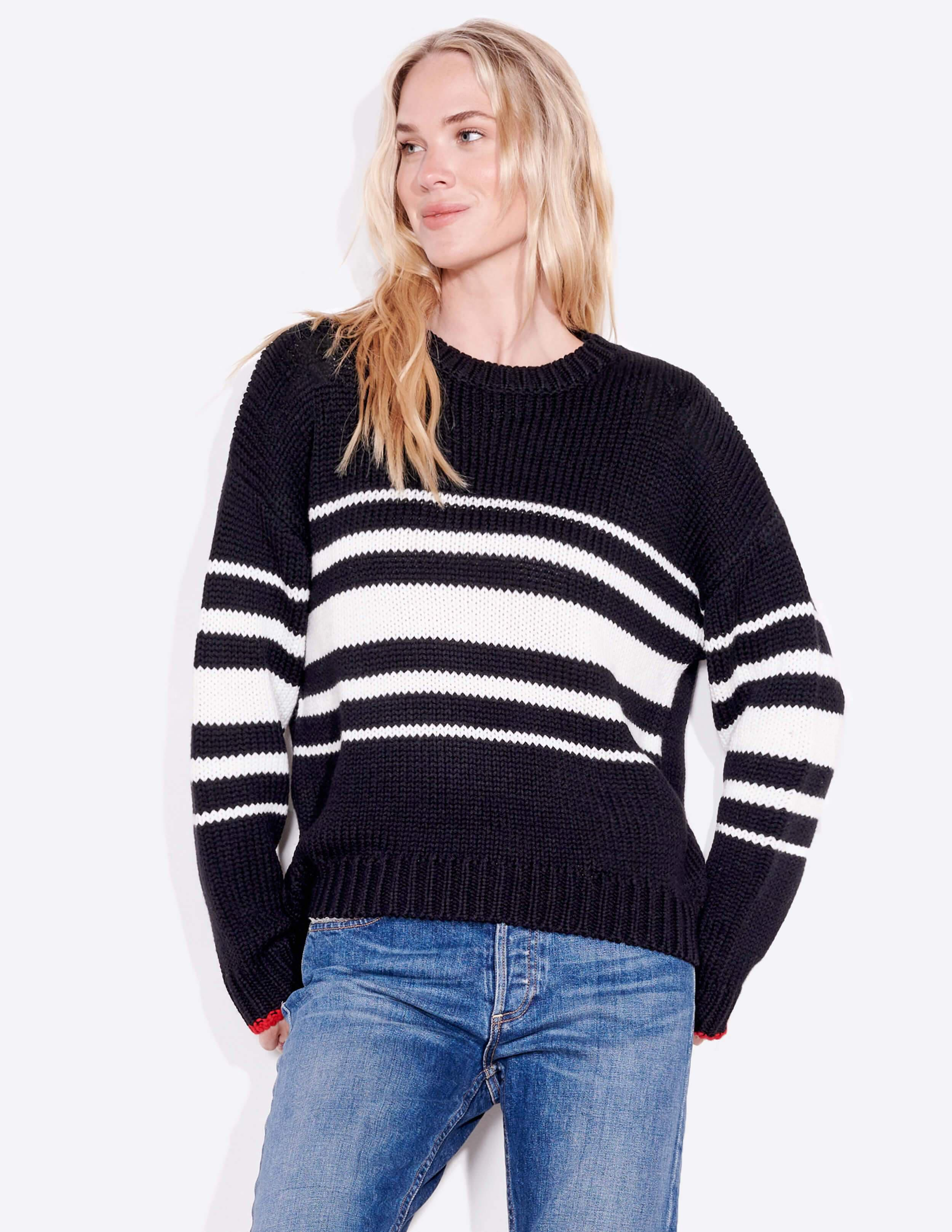 Stripes Slouchy Knit Sweater