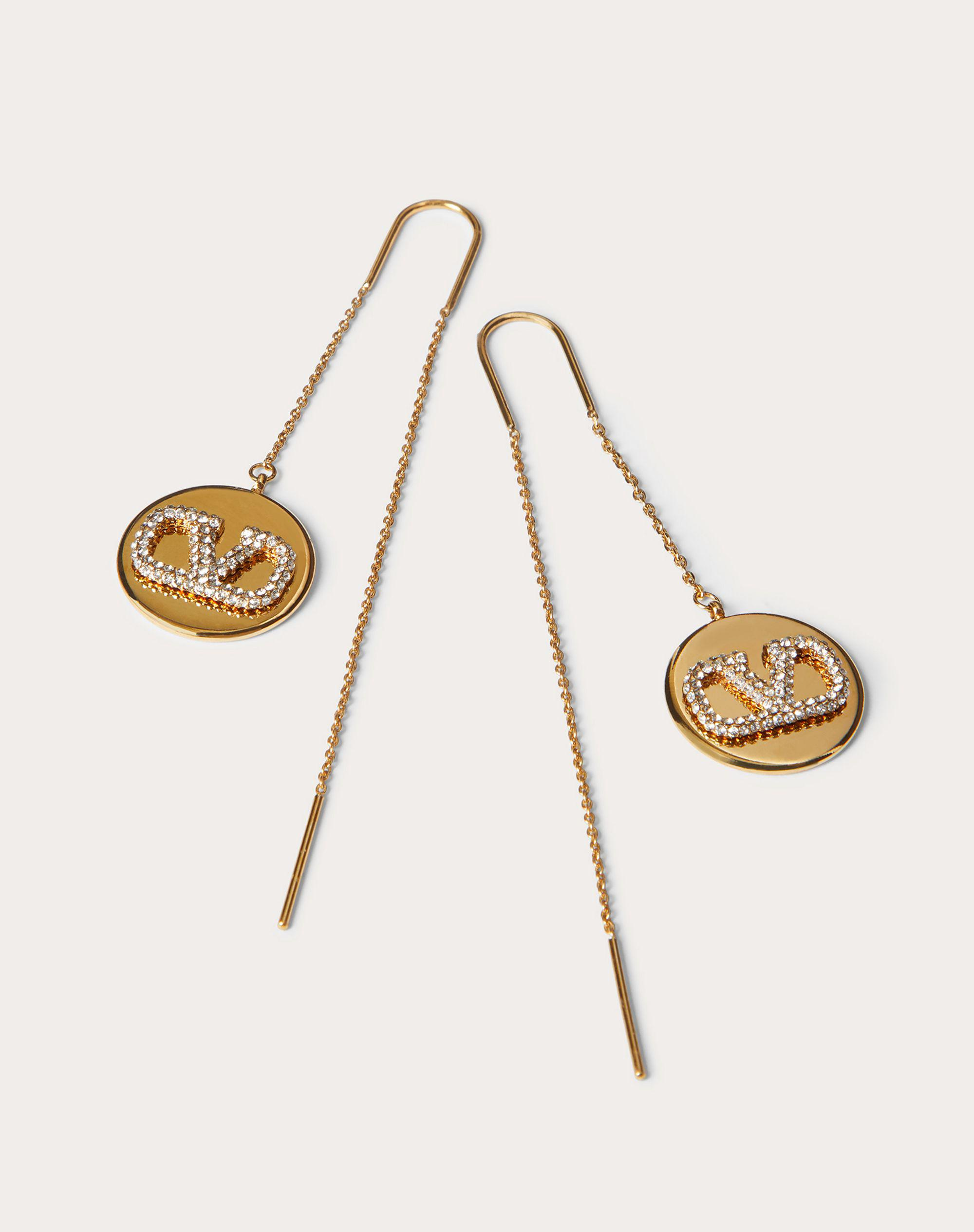 VLogo Signature Earrings in Metal and Swarovski® Crystals