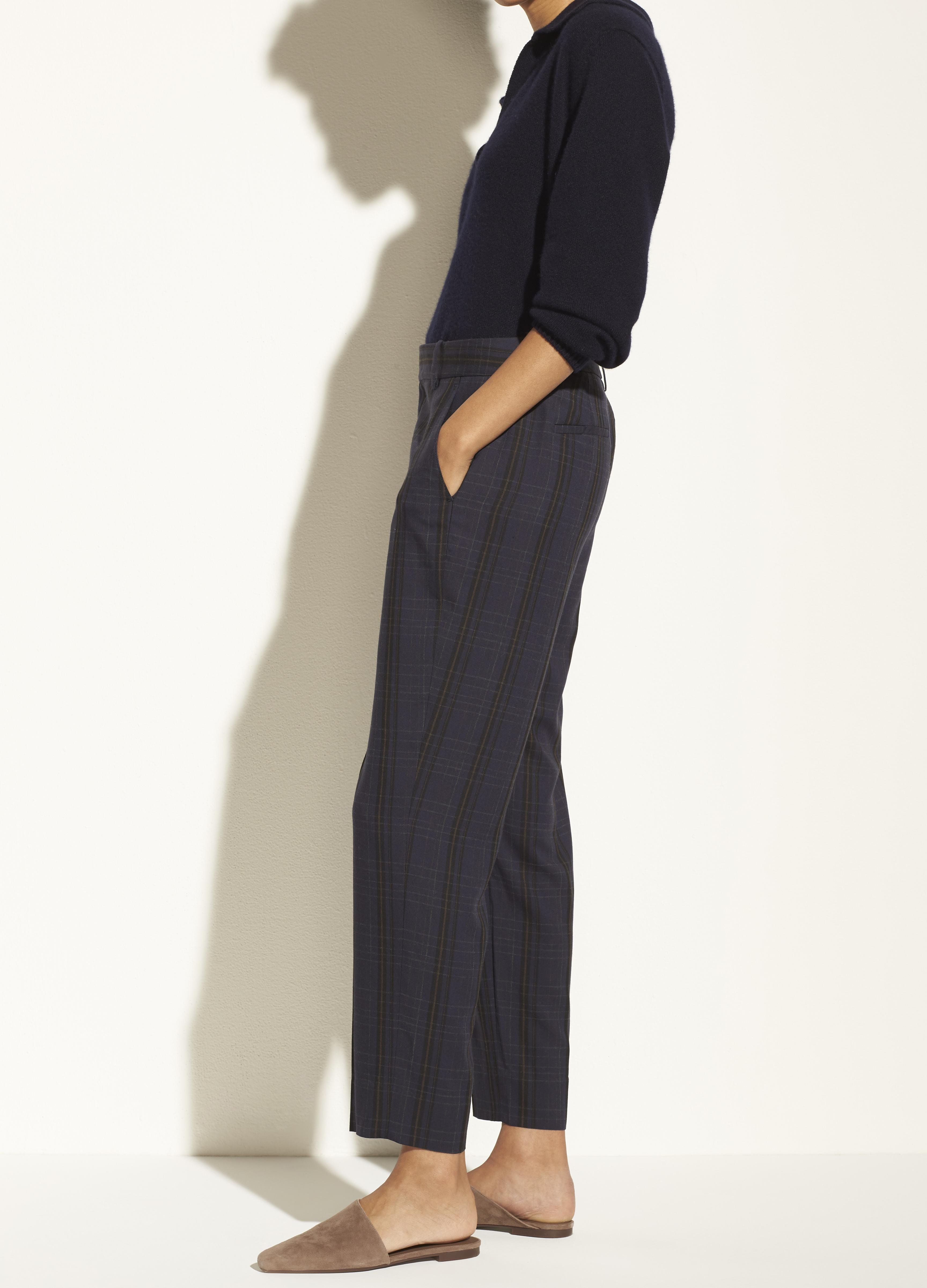 Plaid Tapered Trouser 2