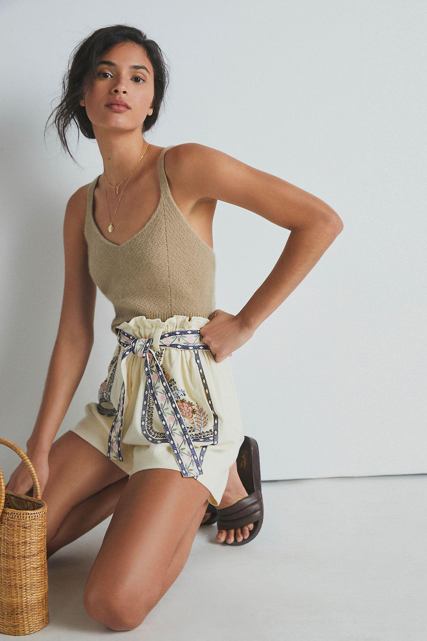 Annaleigh Embroidered Shorts