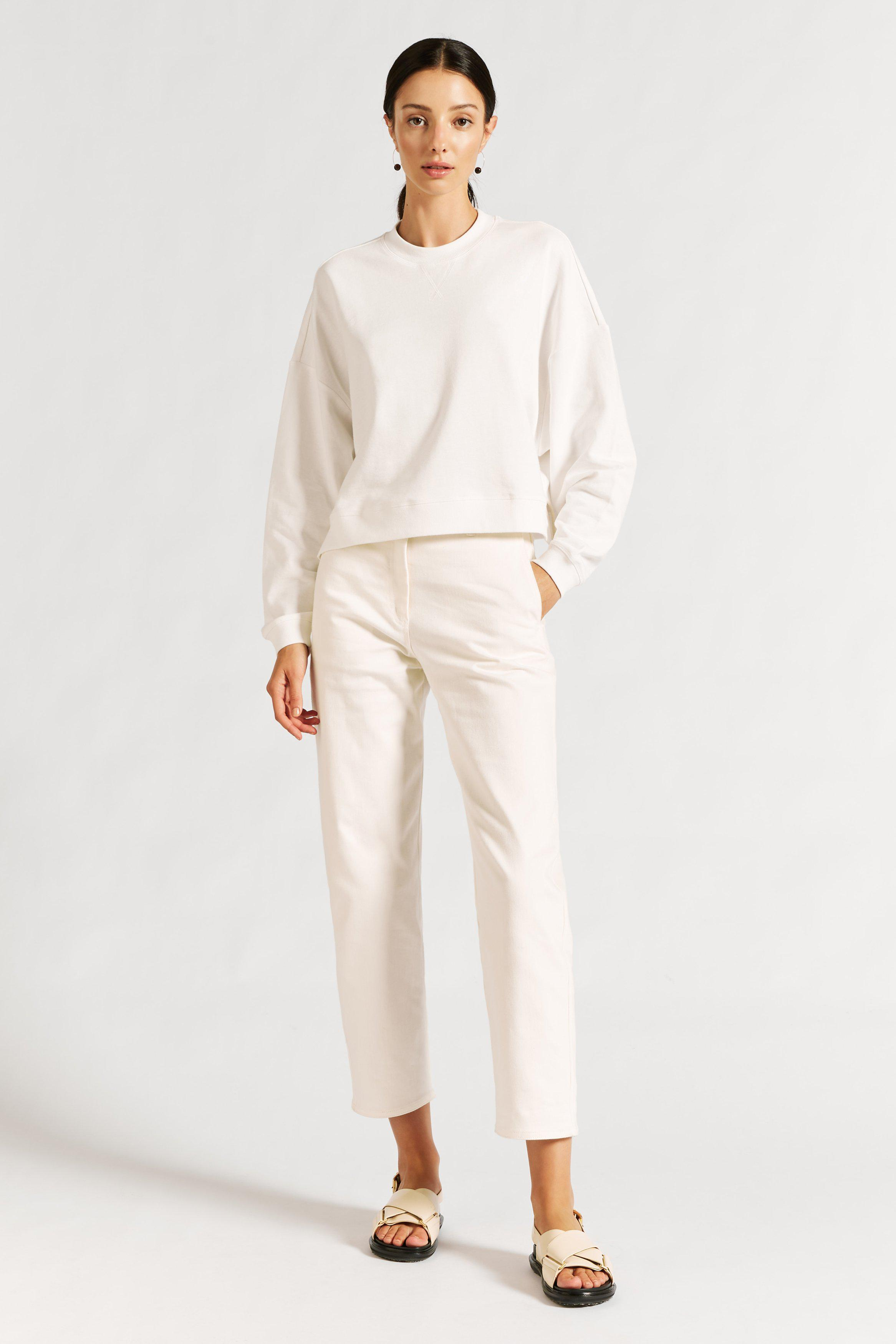 Vince Organic Cropped Sweater