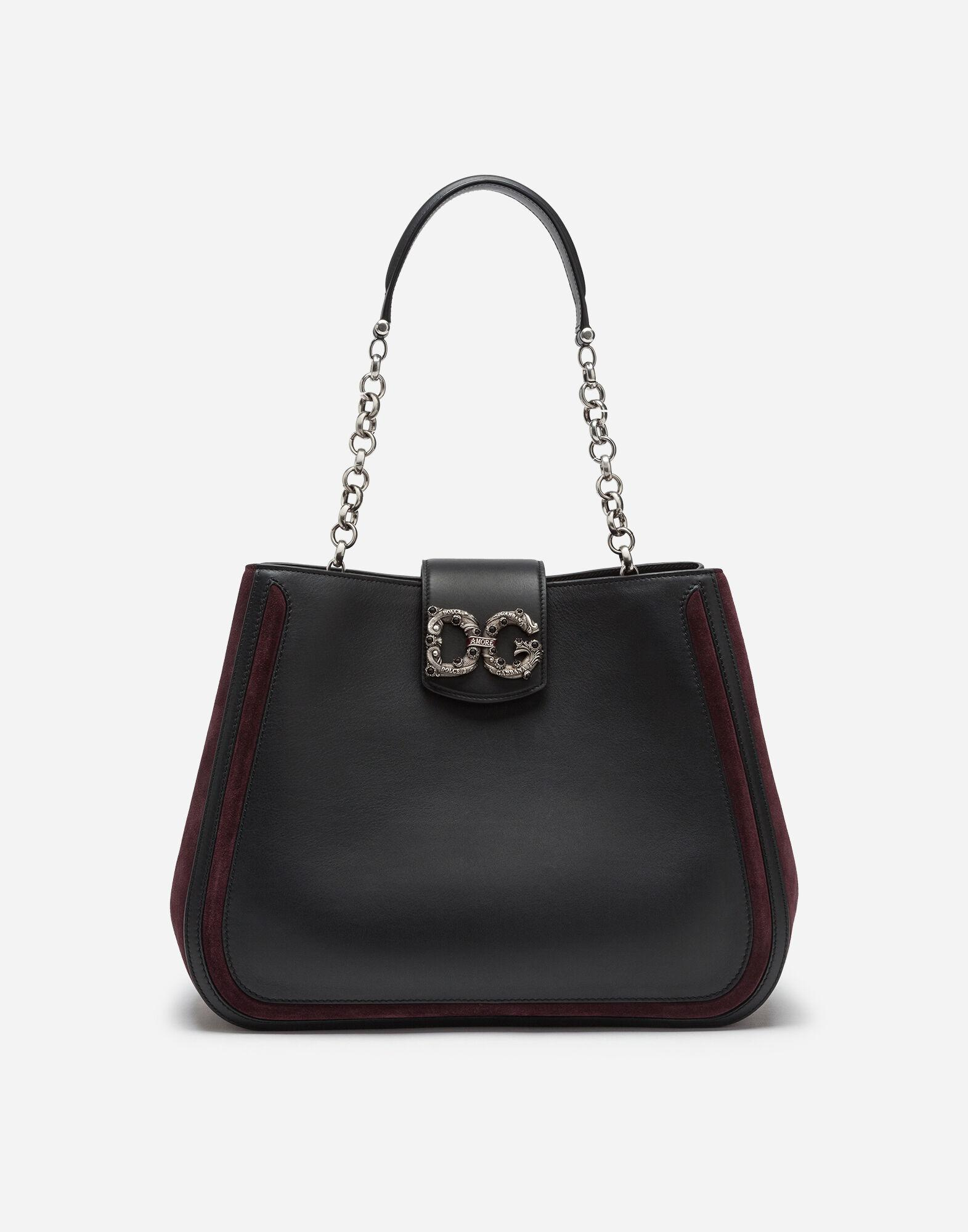 Large DG Amore bag in mixed materials