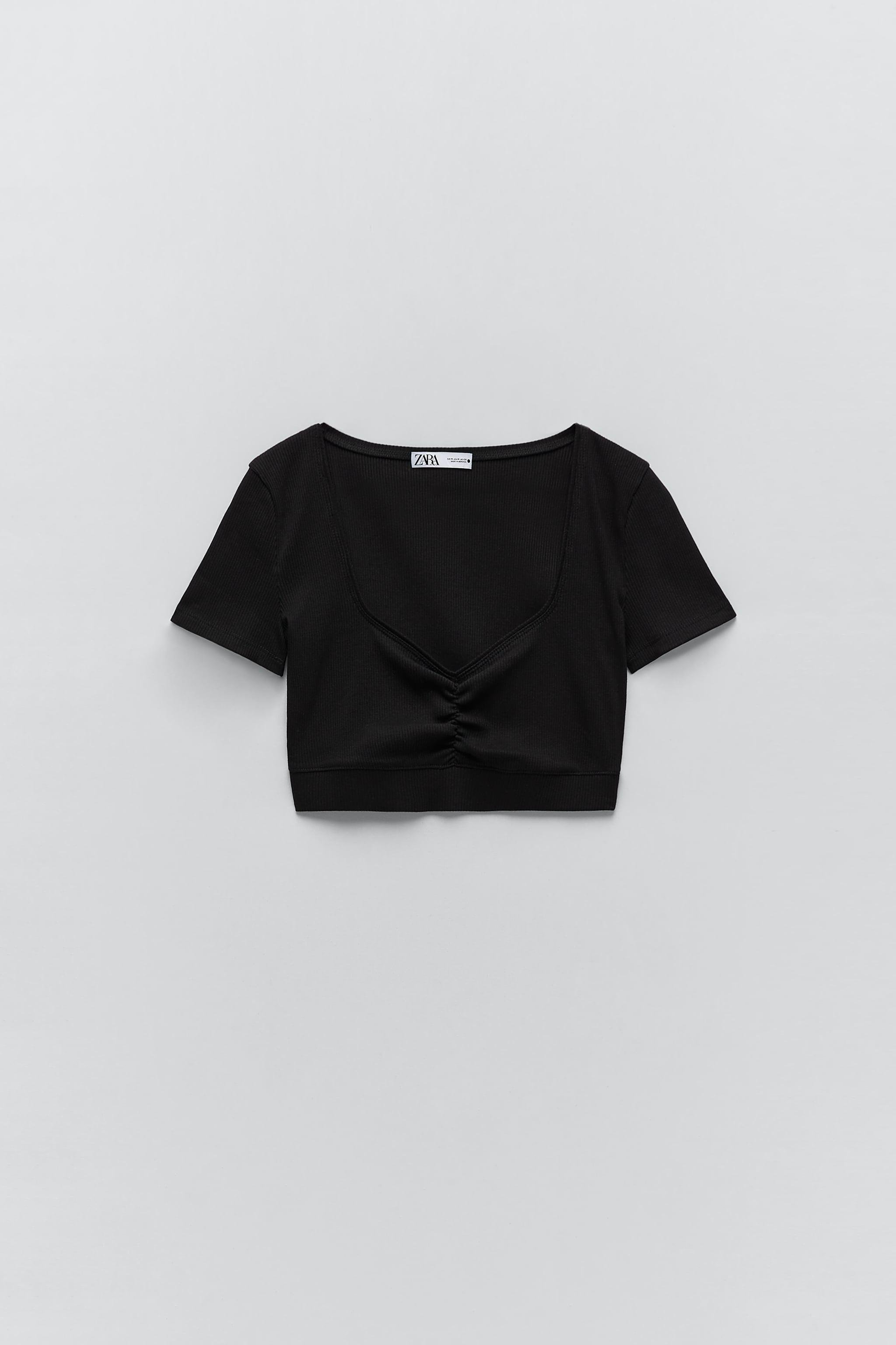 GATHERED CROPPED TOP 0