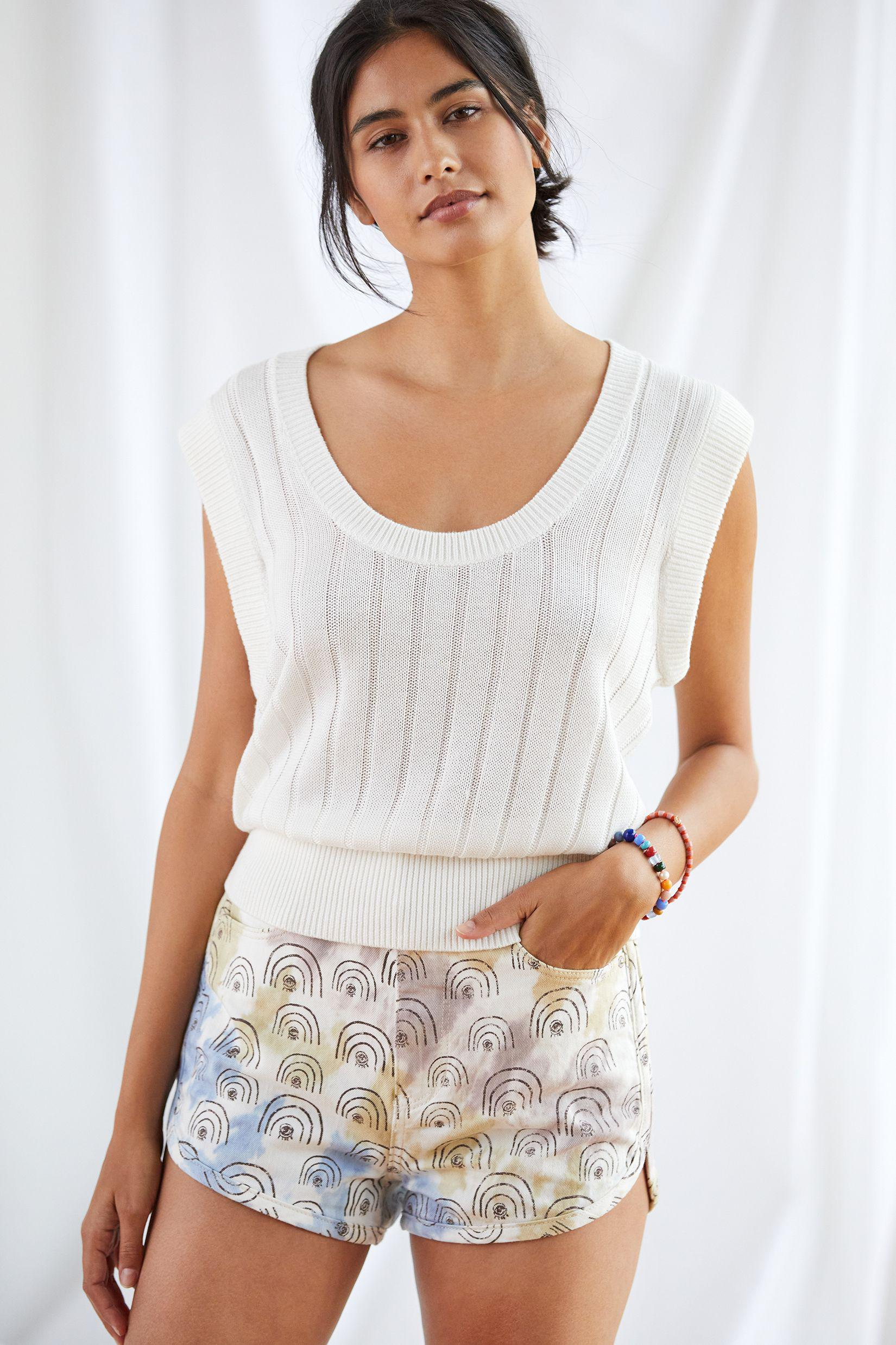 Maeve Banded Knit Tank 1